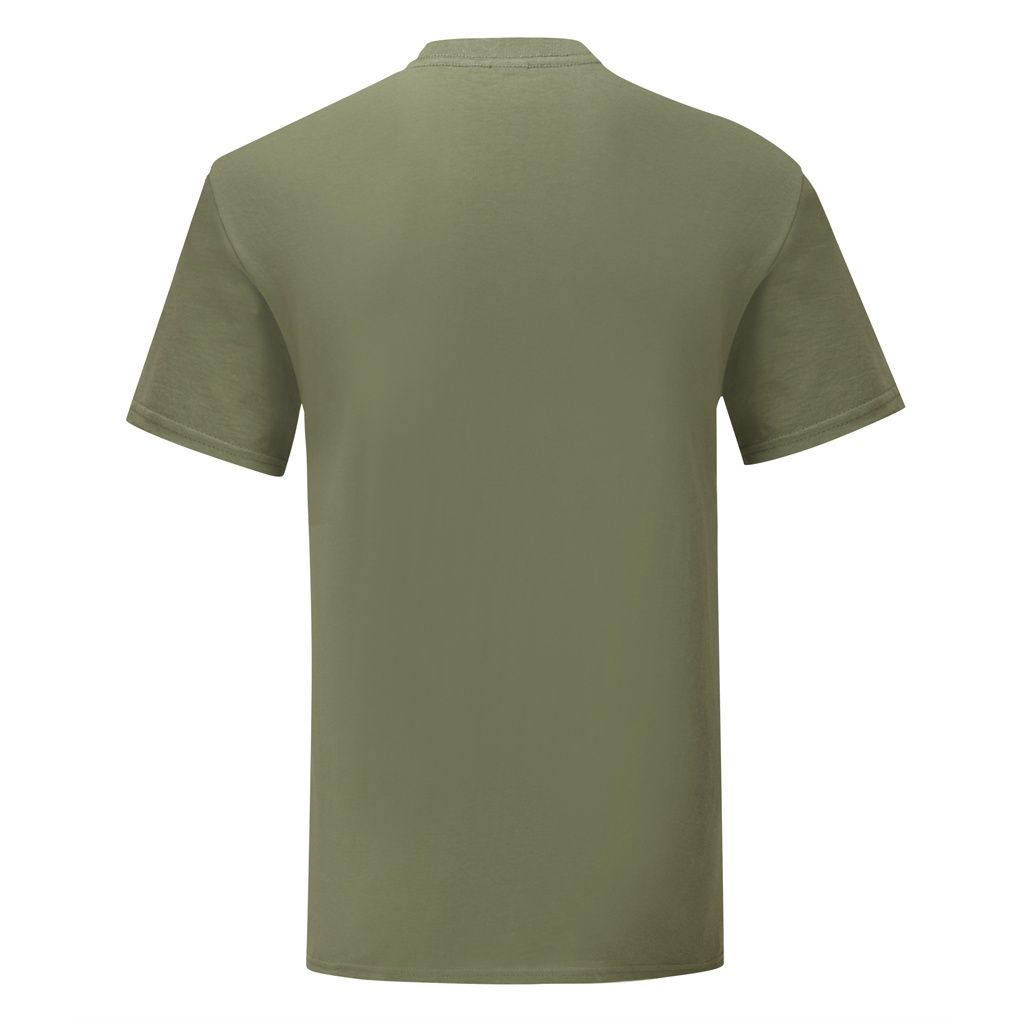 Fruit Of The Loom Mens Iconic T-Shirt (Pack of 5) (Classic Olive Green)