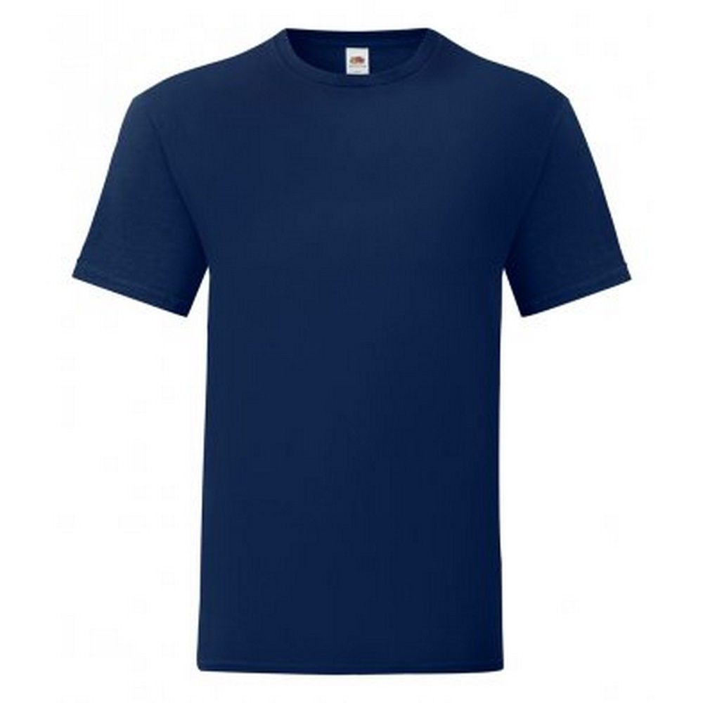 Fruit Of The Loom Mens Iconic T-Shirt (Pack of 5) (Navy)