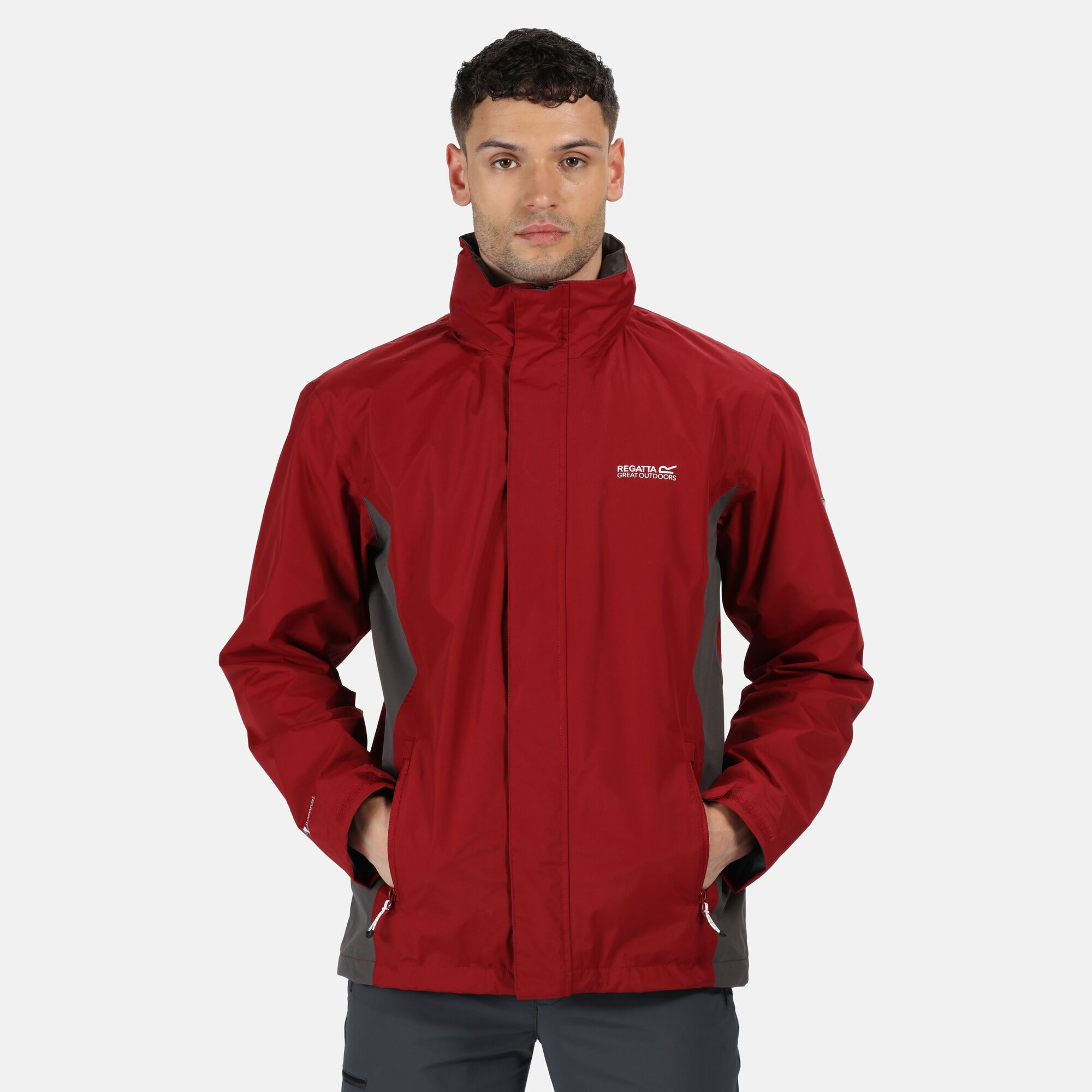 Regatta Great Outdoors Mens Jessup Waterproof Jacket (Delhi Red/Magnet Grey)