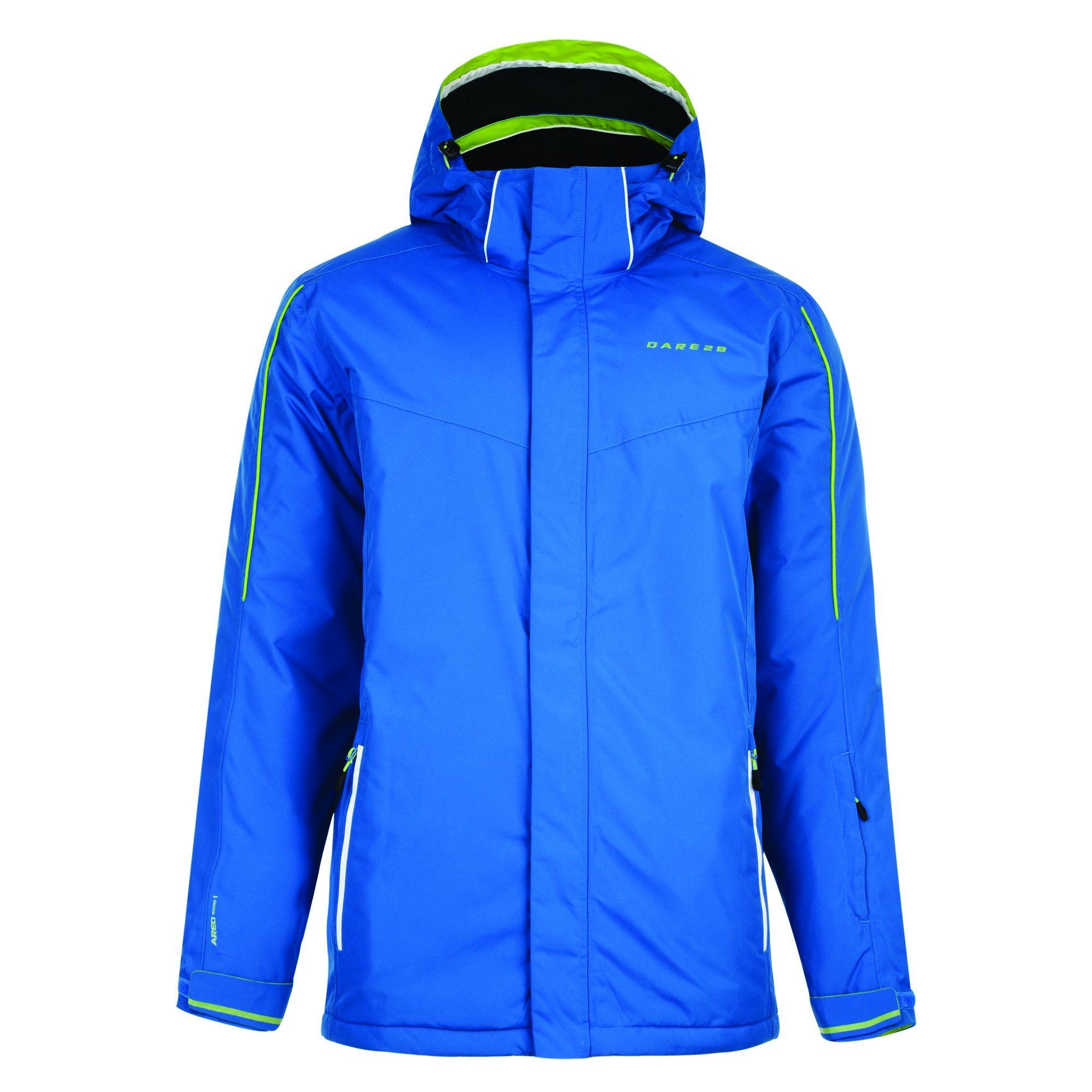 Dare 2B Mens Synced Hooded Waterproof Ski Jacket (Skydiver Blue)
