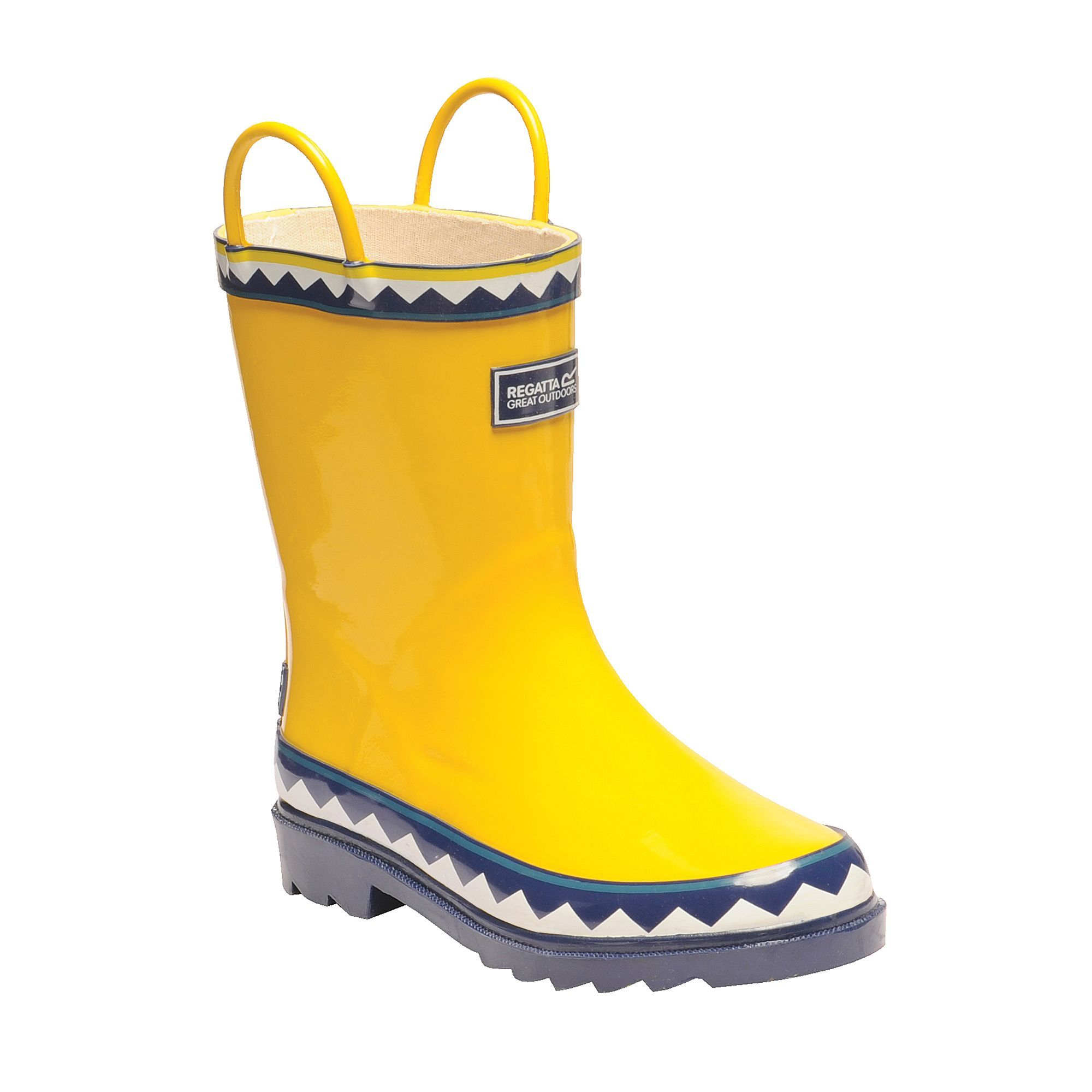 Regatta Great Outdoors Childrens/Kids Minnow Patterned Wellington Boots (Unicorn/Red Ochre)