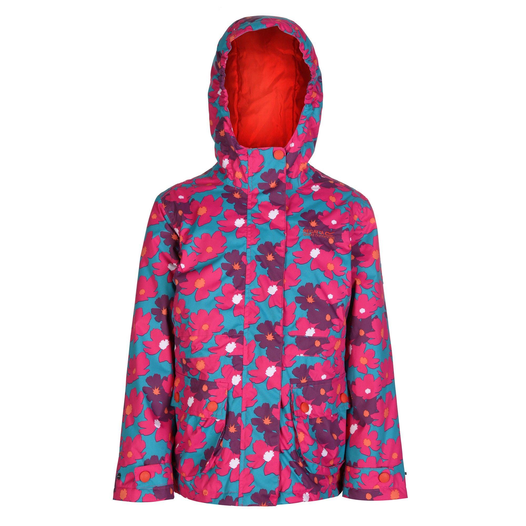 Regatta Great Outdoors Childrens Girls Bouncy Waterproof Jacket