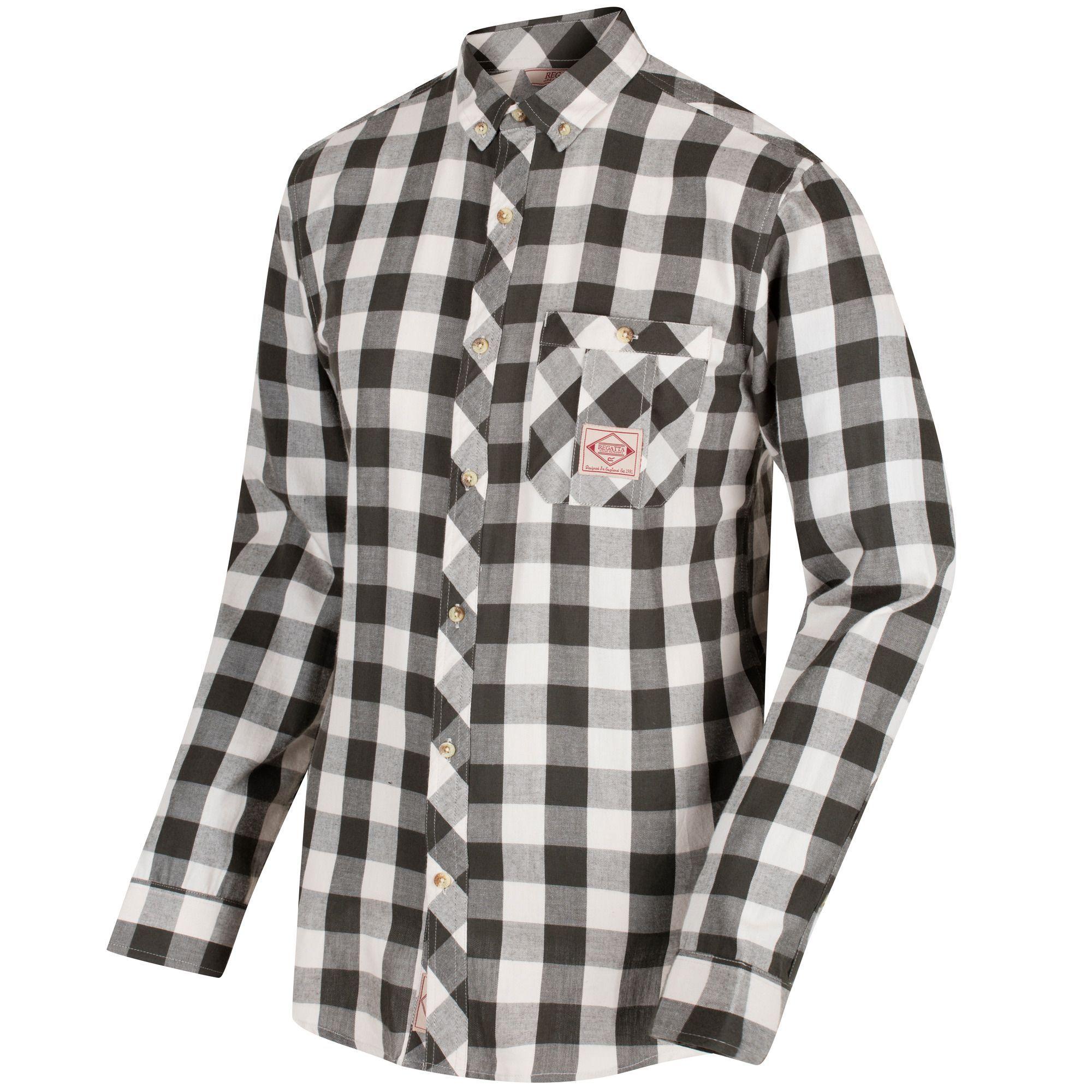 Regatta Great Outdoors Mens Loman Long Sleeve Check Shirt