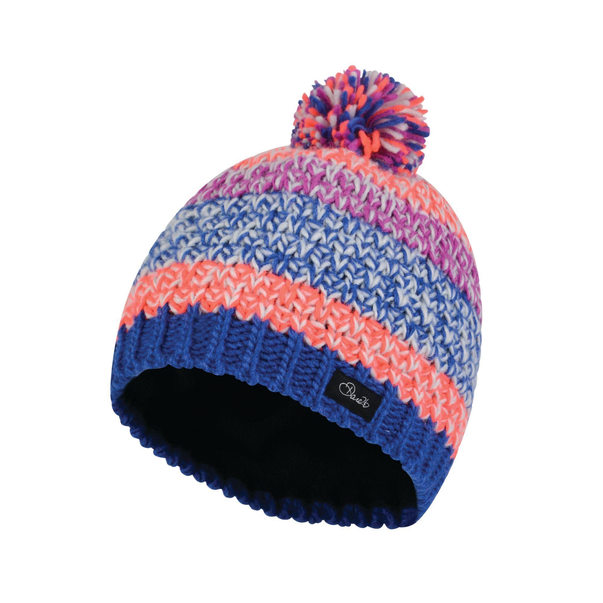 Dare2B Girls Superflash Bobble Beanie Hat