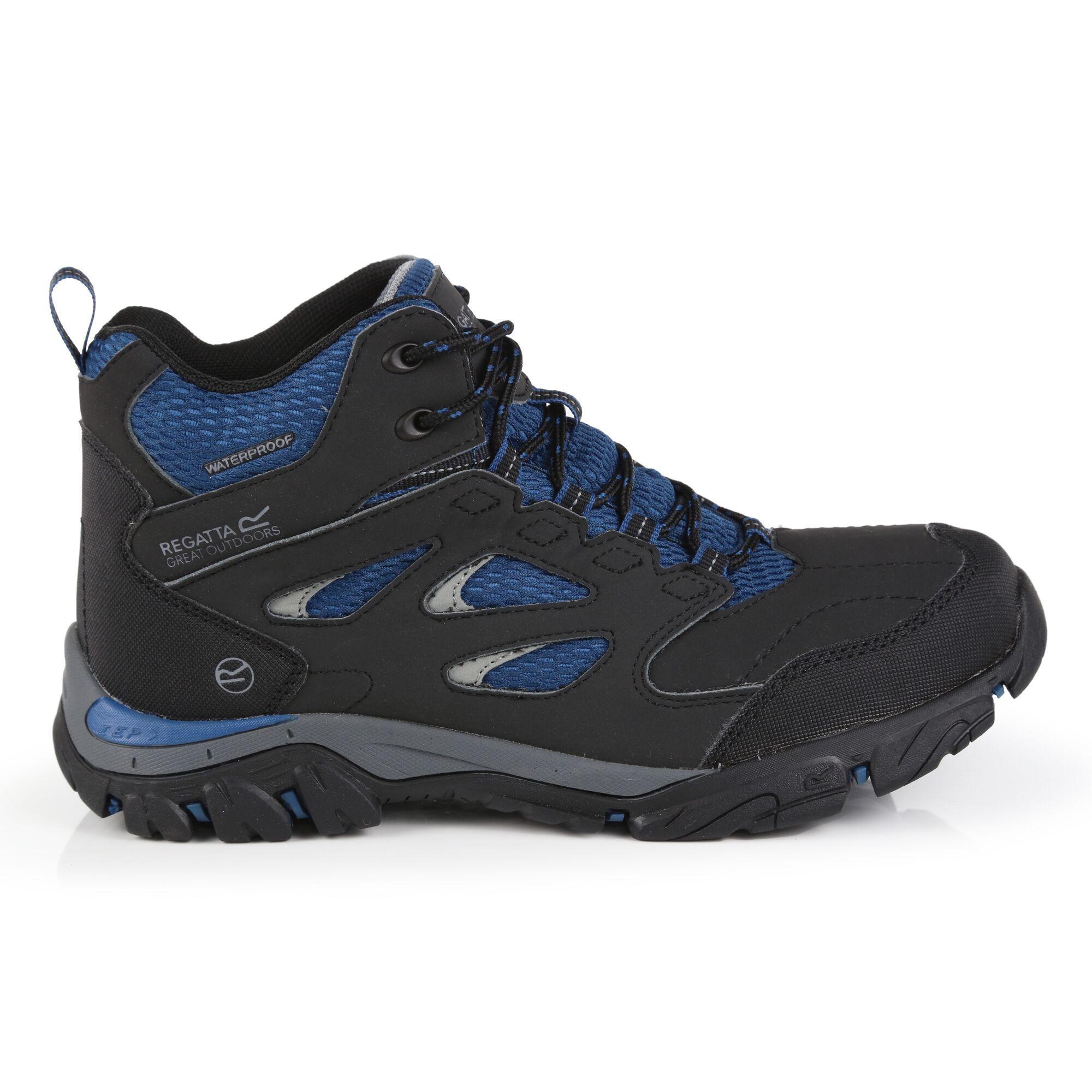 Regatta Womens/Ladies Holcombe IEP Mid Hiking Boots (Ash/Blue Opal)