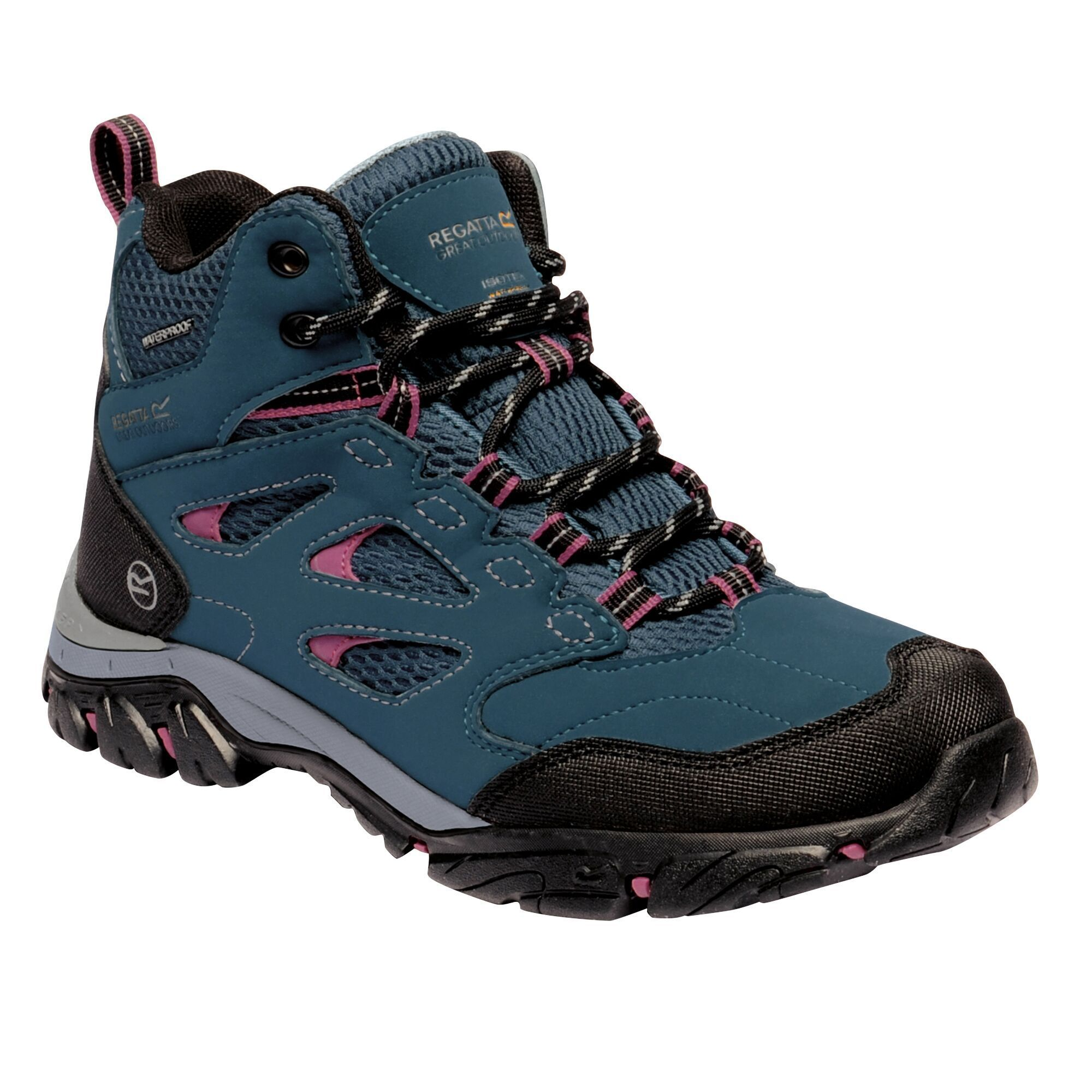 Regatta Womens/Ladies Holcombe IEP Mid Hiking Boots (Moroccan Blue/Red Violet)