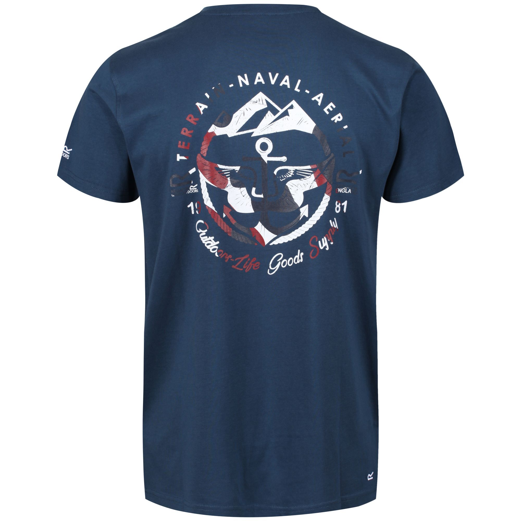Regatta Mens Cline III Crew Neck Graphic Print T-Shirt