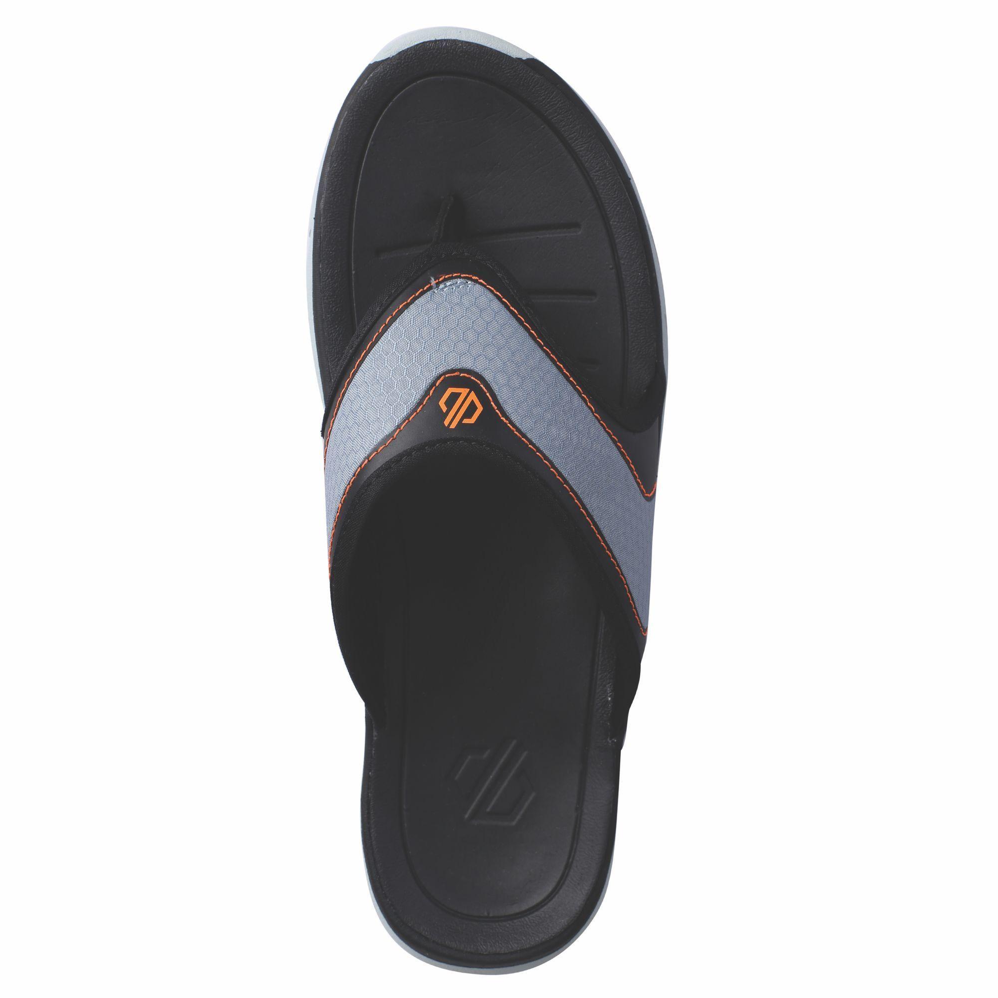 Dare 2B Mens Xiro Flip Flops (Gravity Grey/Shock Orange)