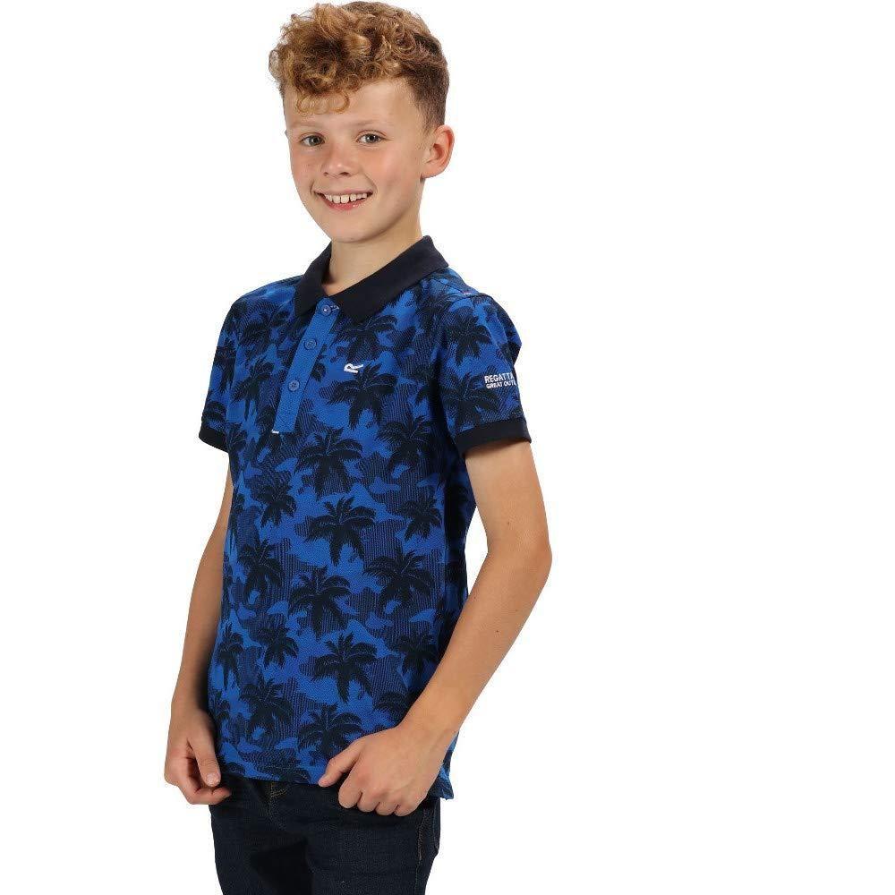 Regatta Childrens/Kids Tobin Button Neck Polo Shirt