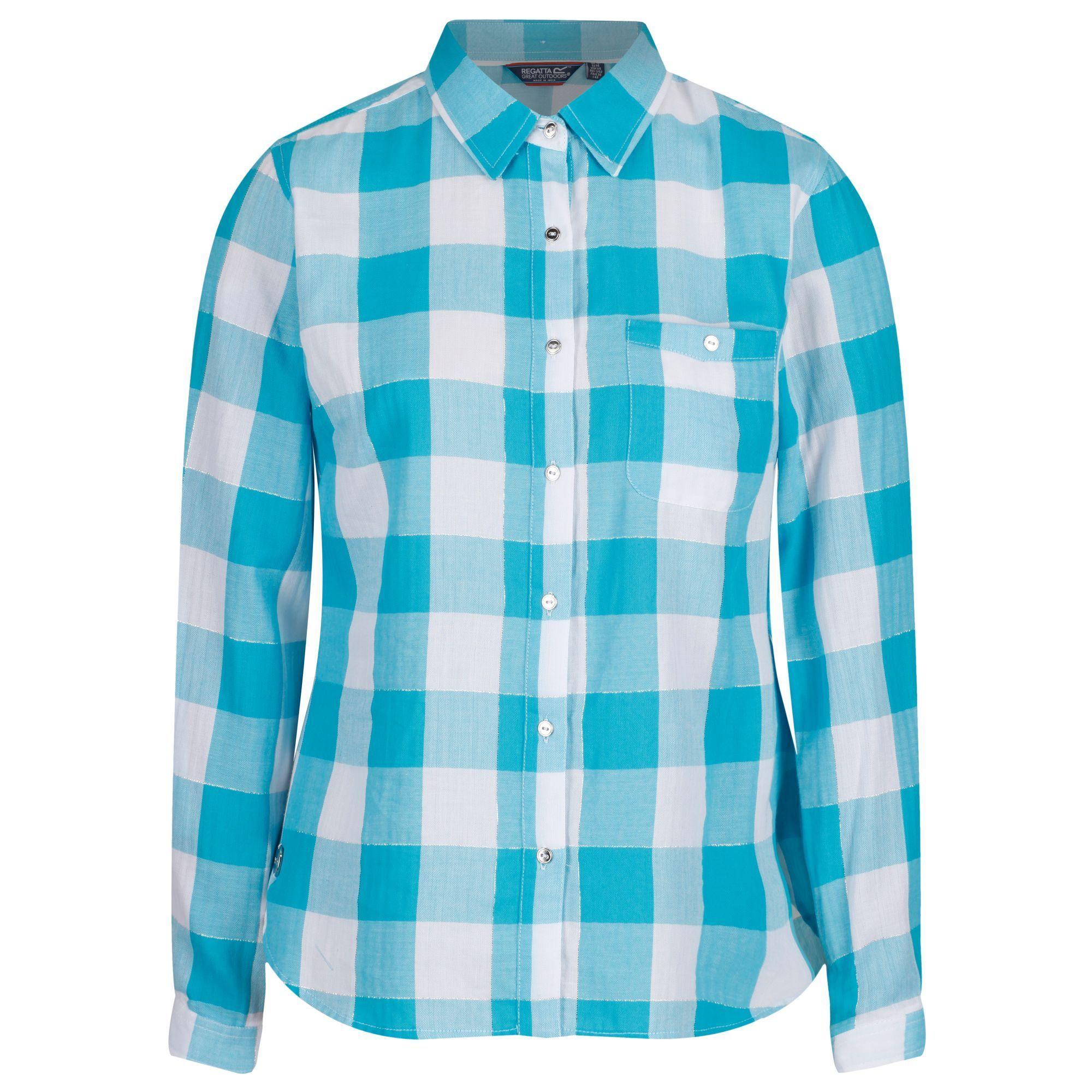 Regatta Womens Merrial Coolweave Cotton Long Sleeve Shirt