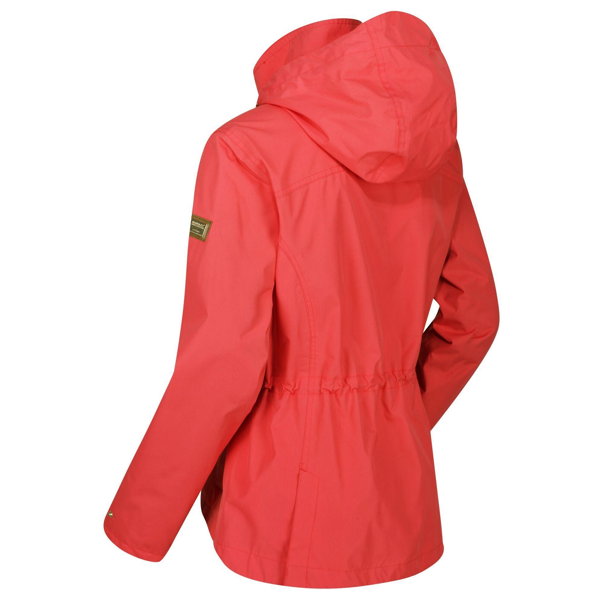 Regatta Womens/Ladies Laurenza Waterproof Hooded Jacket (Red Sky)