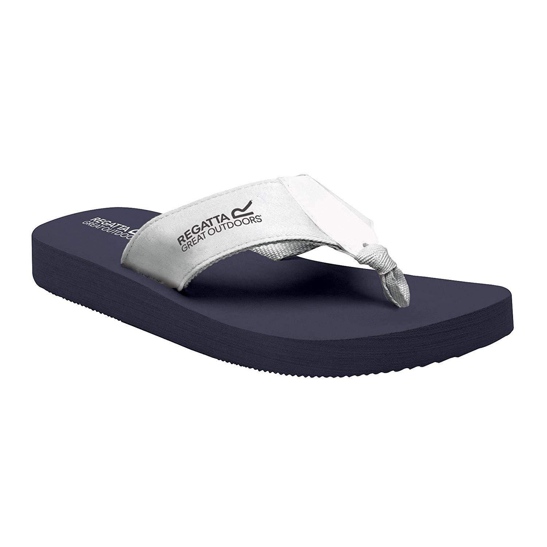 Regatta Womens/Ladies Catarina Flip Flops (Navy/White)
