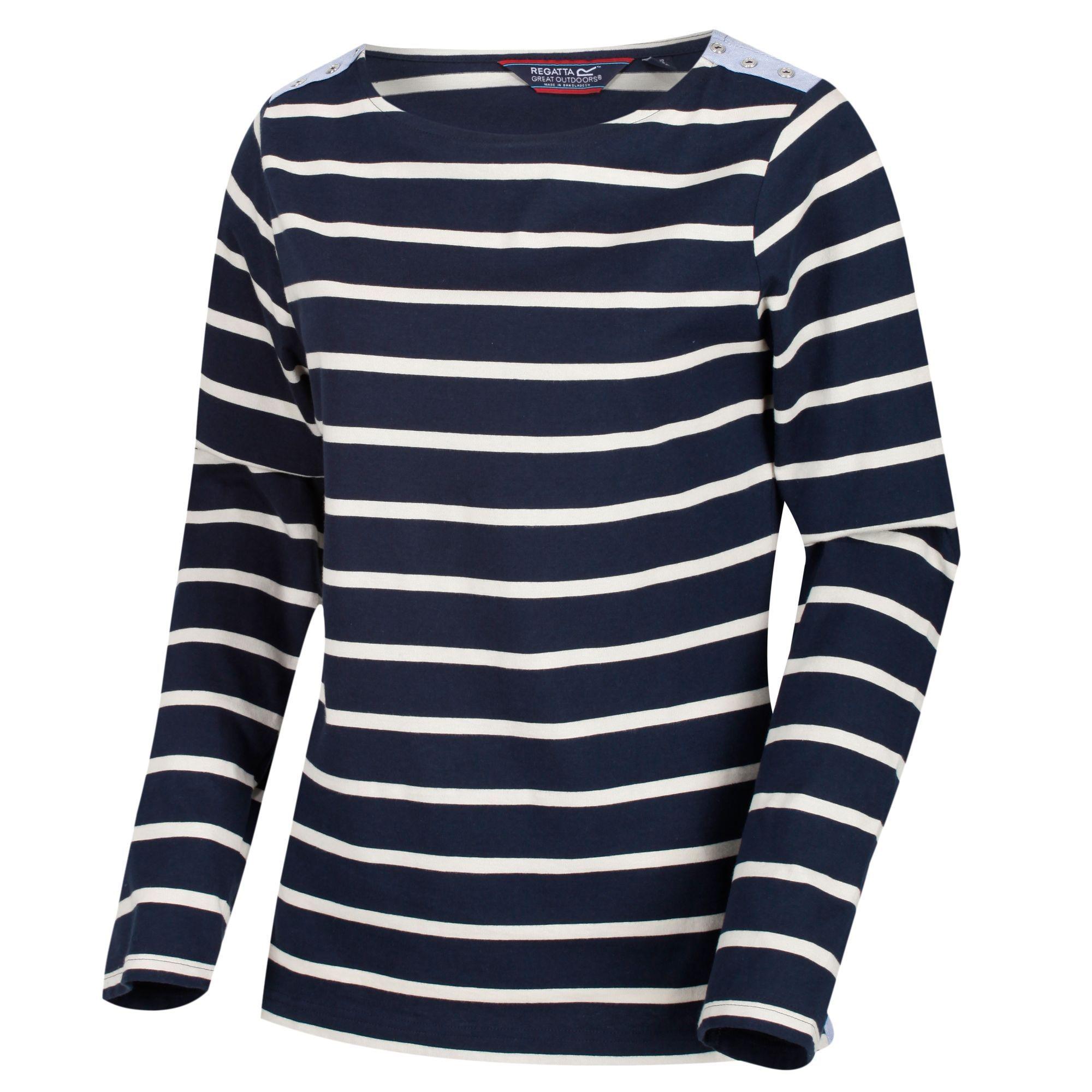 Regatta Womens/Ladies Flordelis Striped Long Sleeve T-Shirt