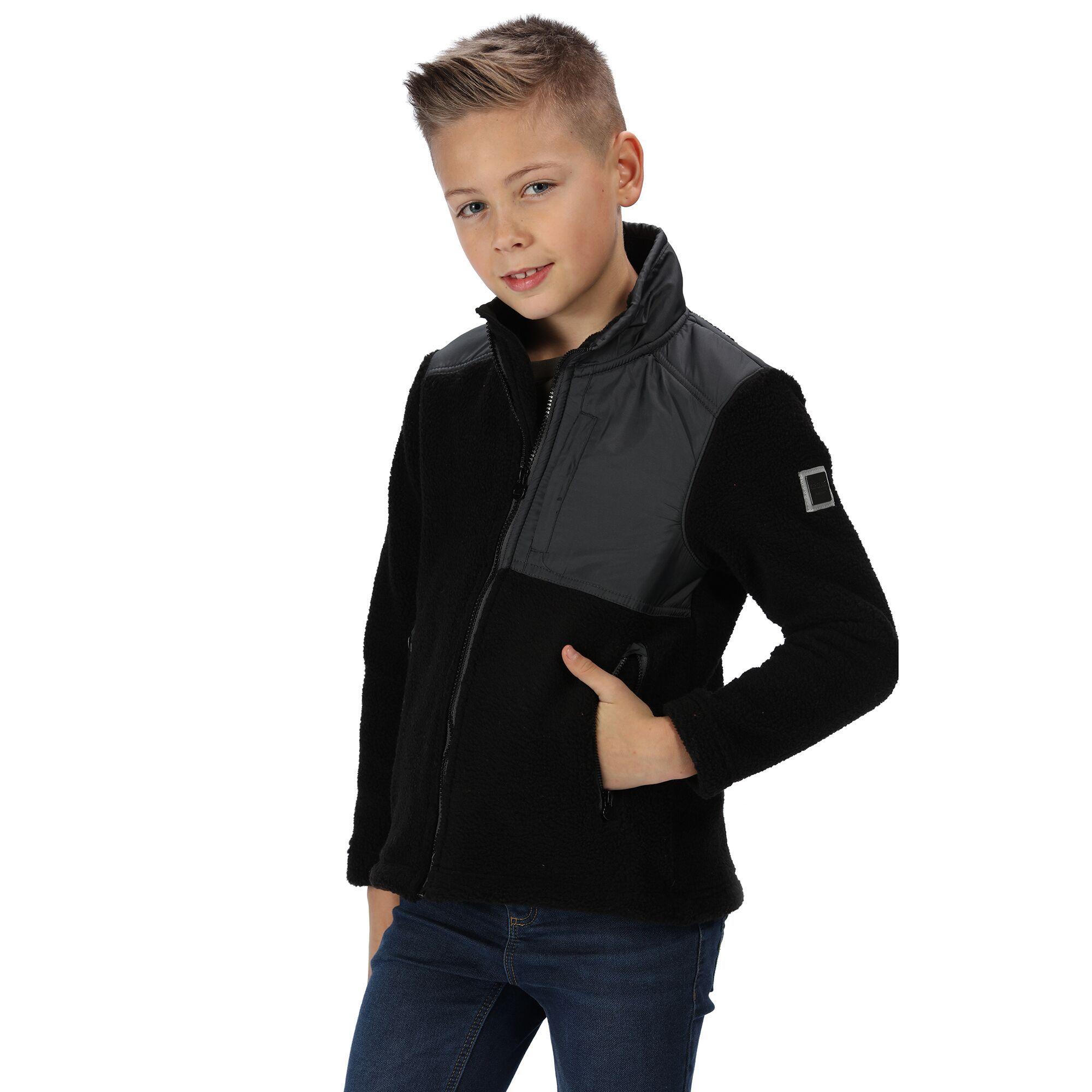 Regatta Childrens/Kids Meyer Colour Blocked Heavyweight Fleece