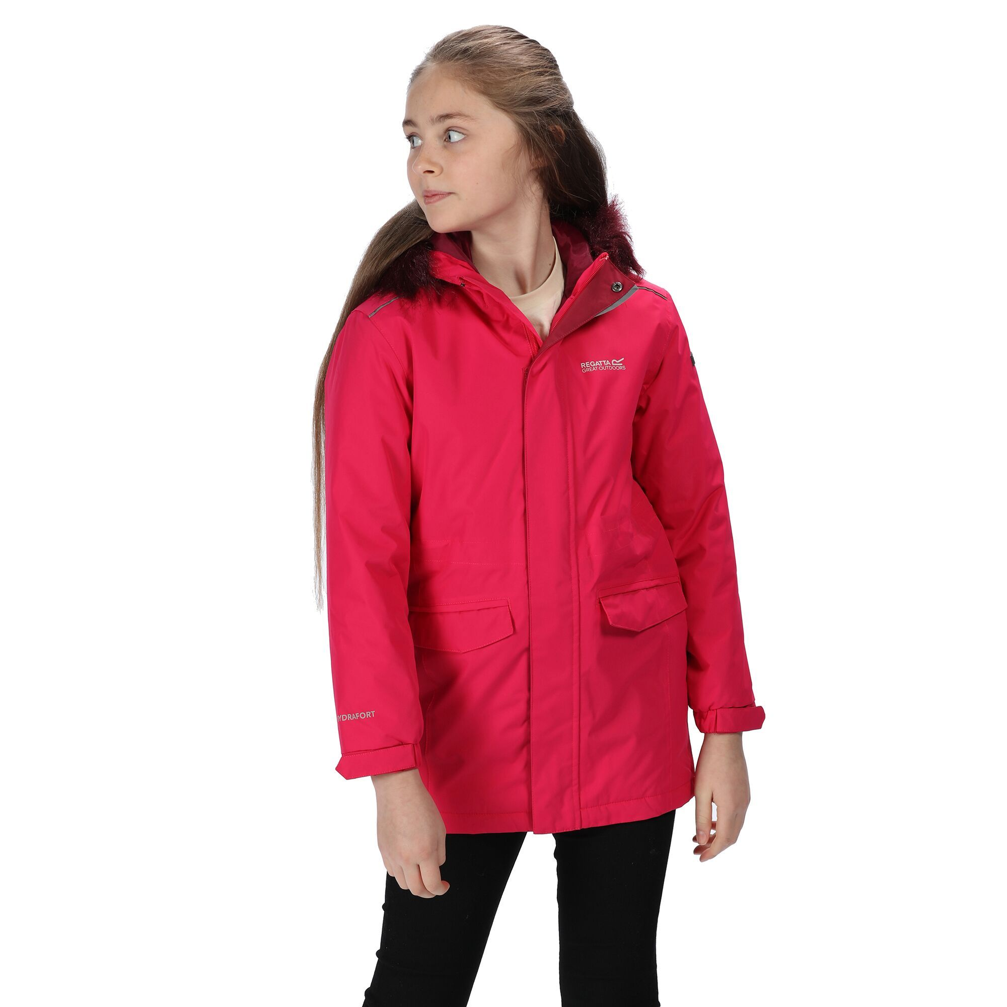 Regatta Childrens/Kids Perry Fur Trimmed Waterproof Jacket