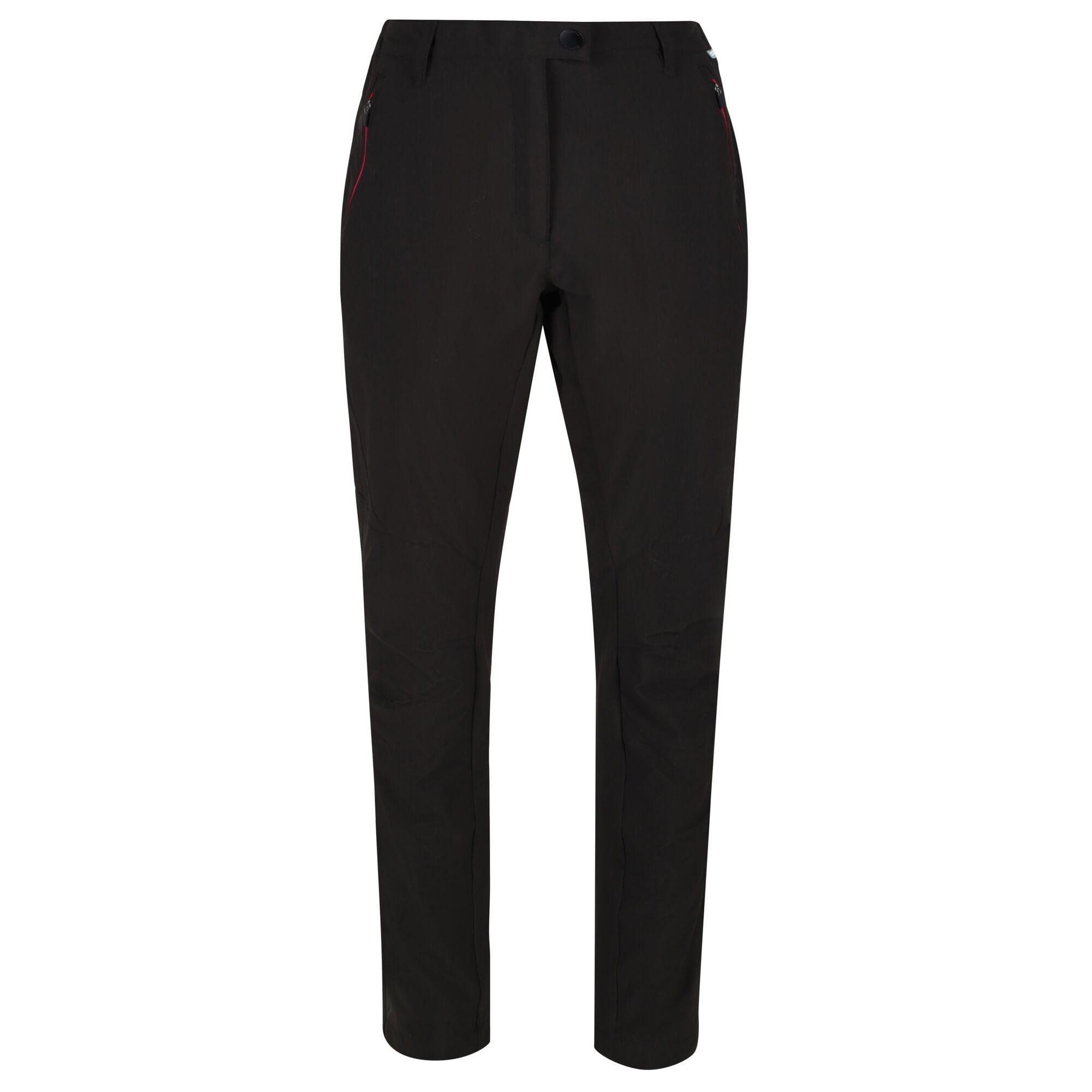 Regatta Womens/Ladies Highton Walking Trousers (Black/Dark Cerise)