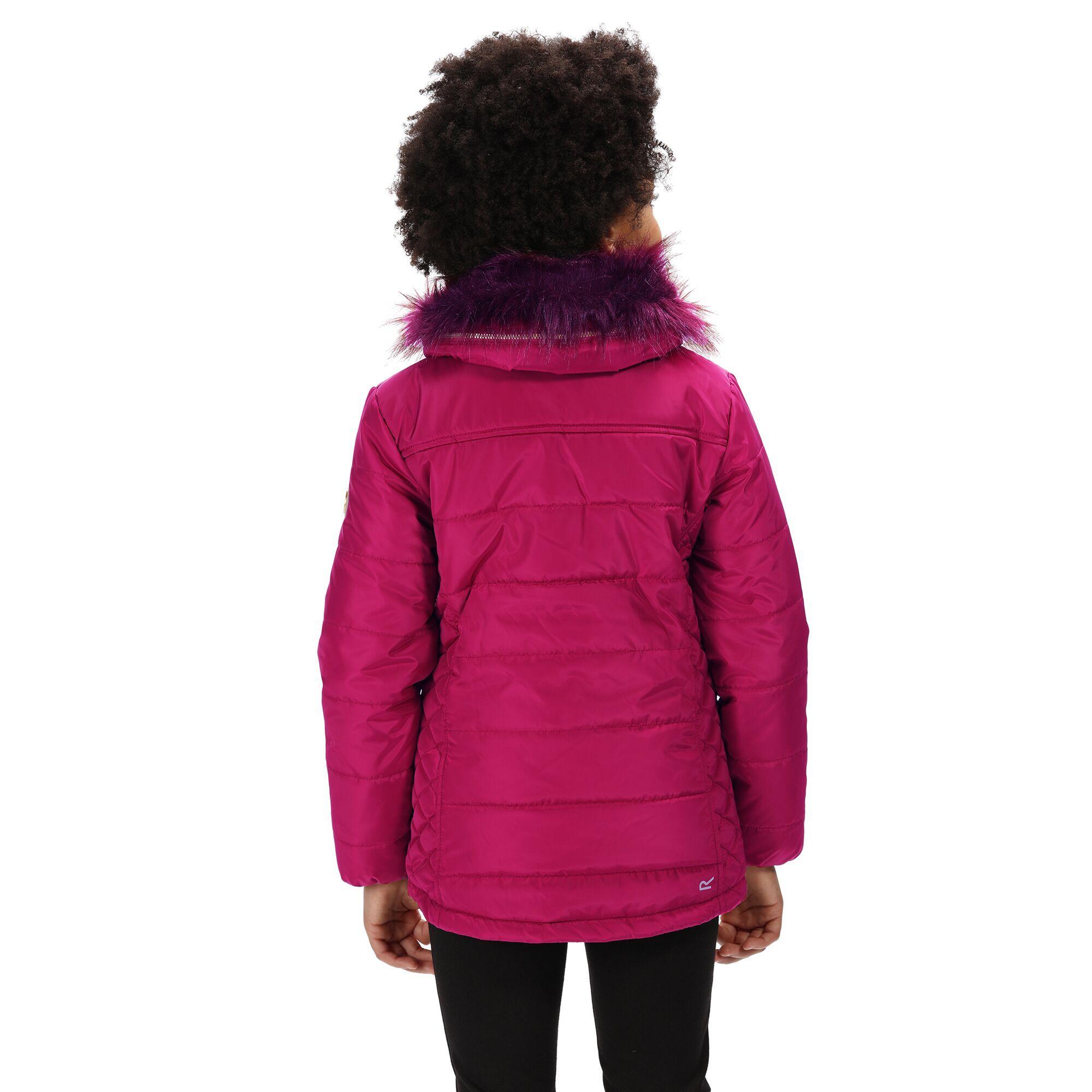 Regatta Childrens/Kids Westhill Faux Fur Trim Hooded Jacket