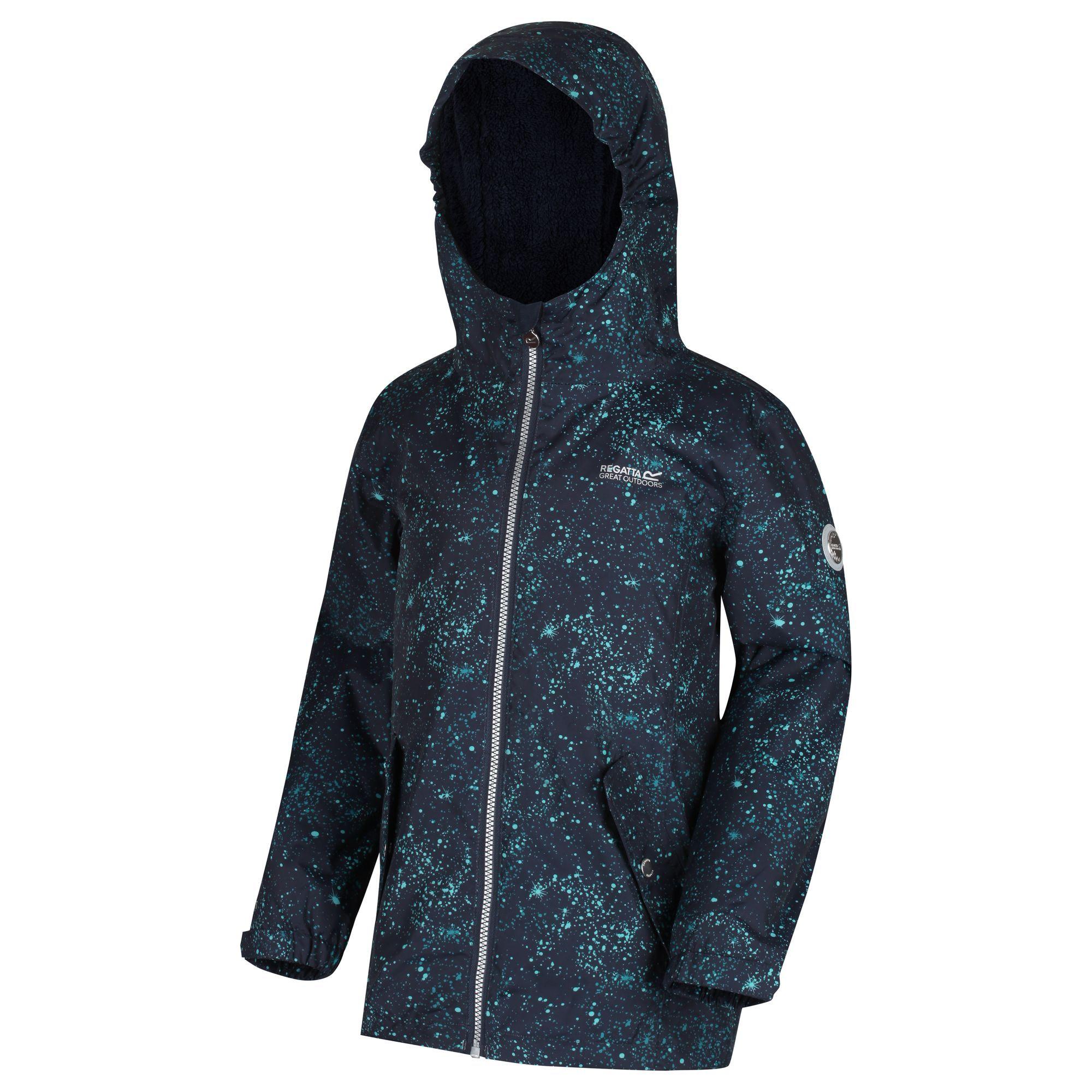 Regatta Childrens/Kids Braylee Printed Waterproof Jacket
