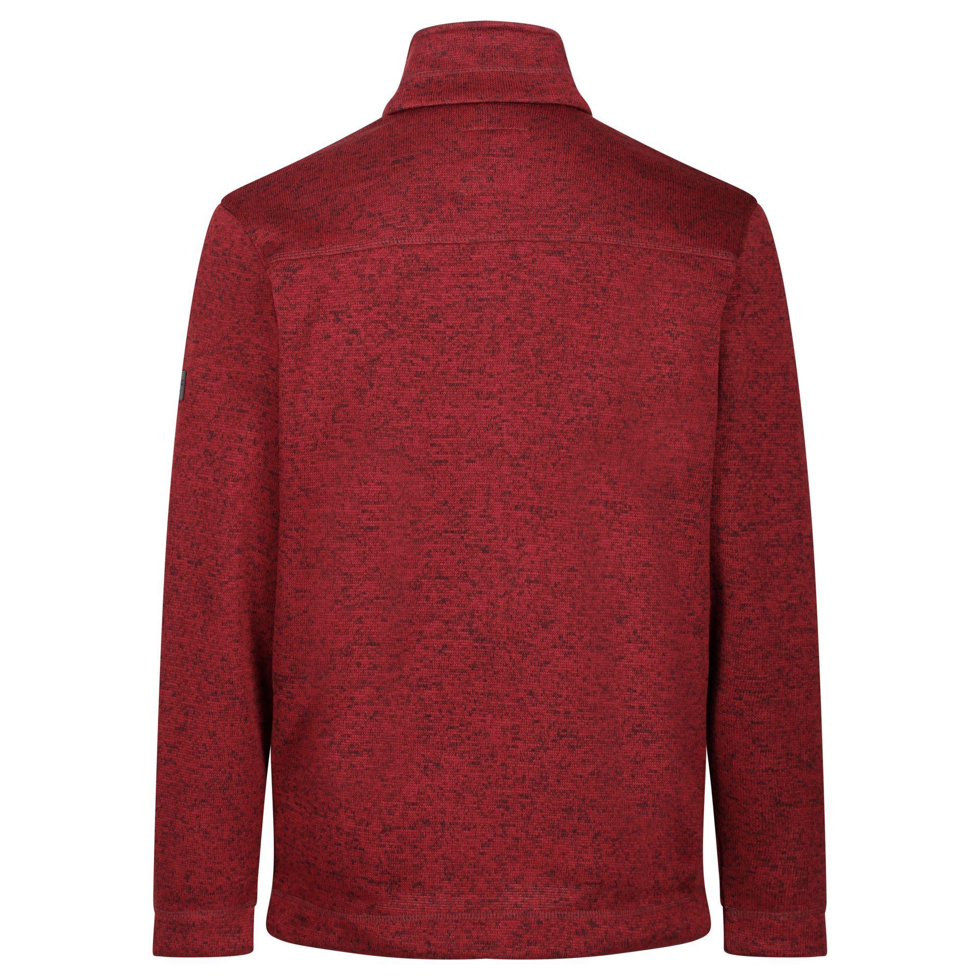 Regatta Mens Branton II Full Zip Marl Fleece Top