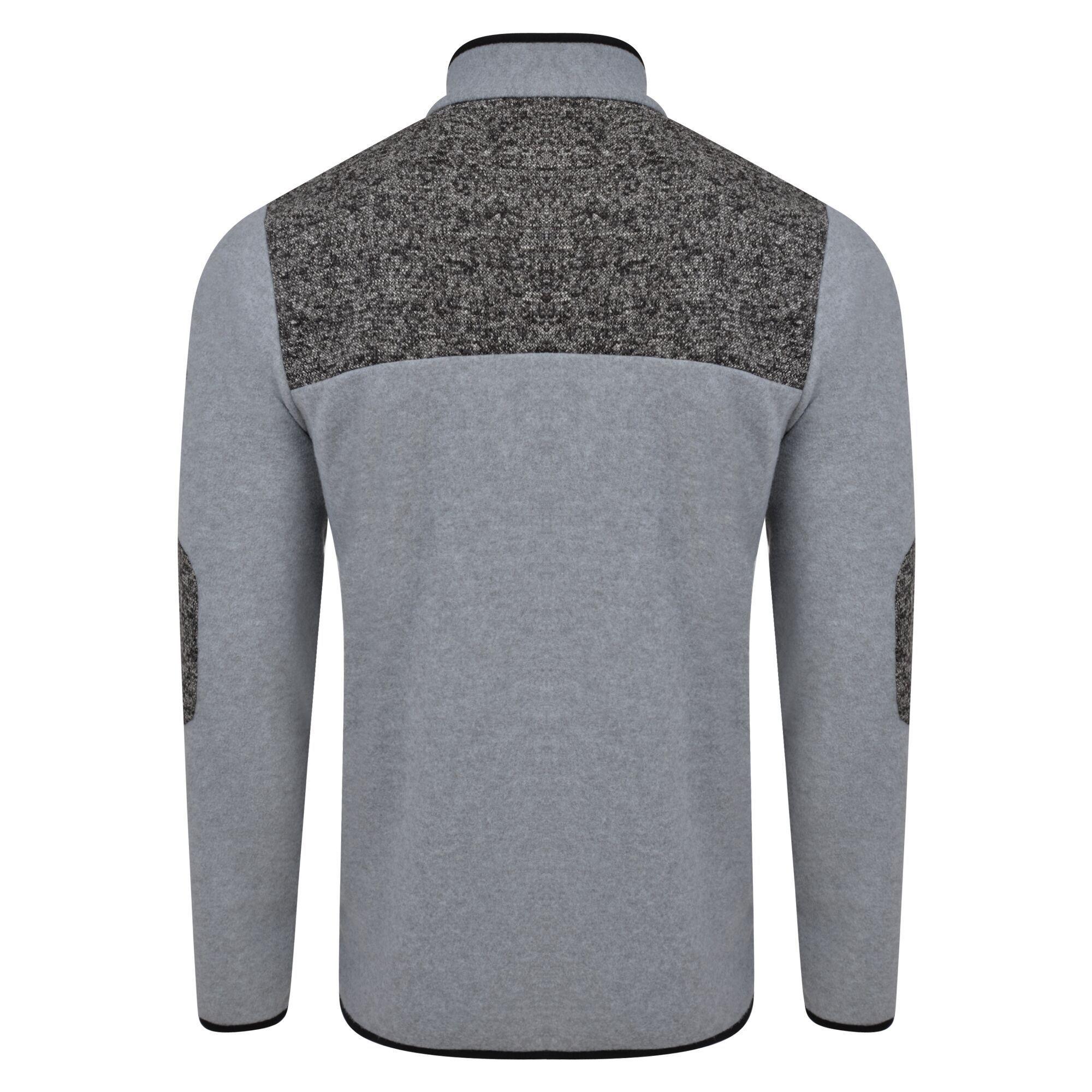 Dare 2B Mens Incluse Full Zip Knit Effect Fleece Sweater