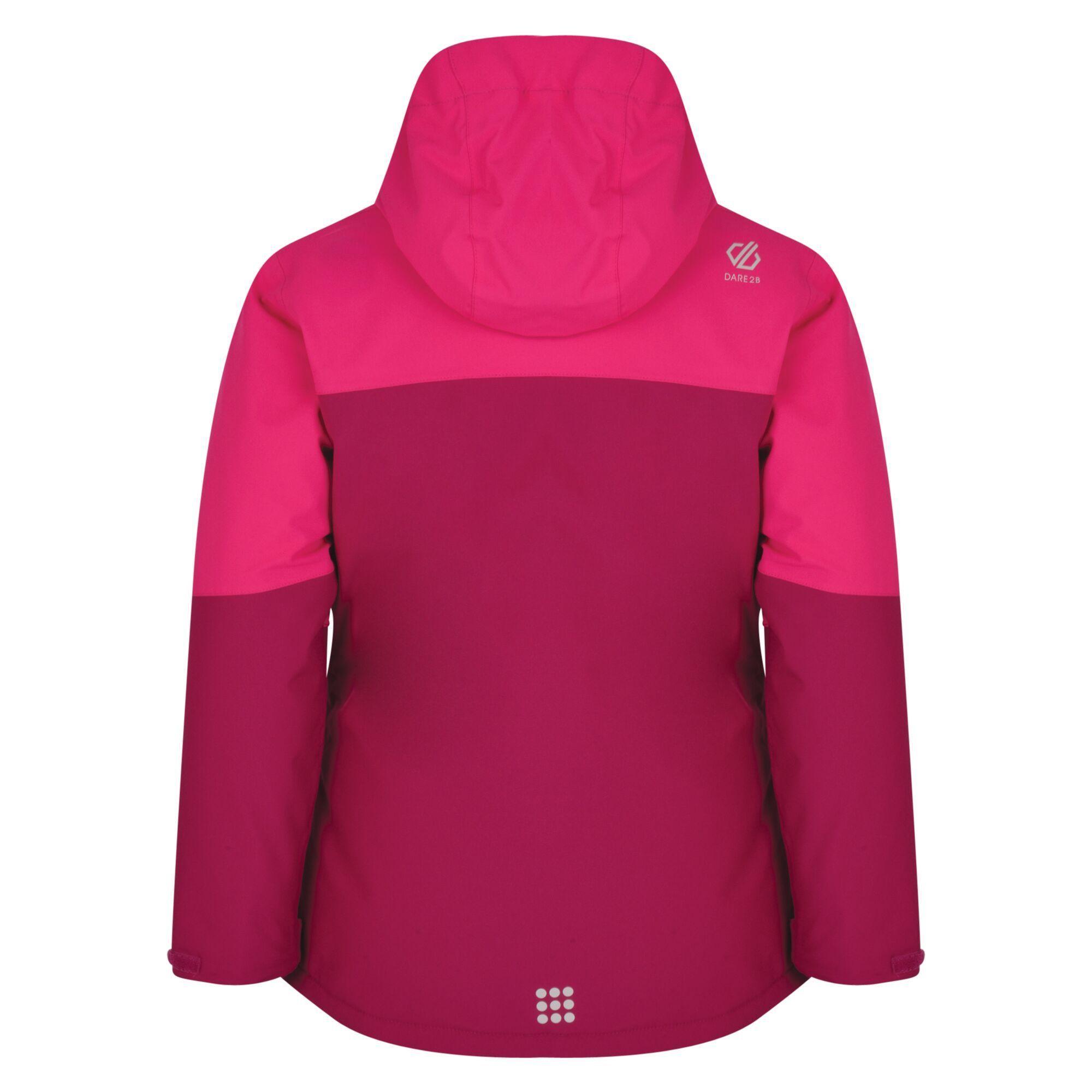 Dare 2b Kids Aviate Ski Jacket (Fuschia/Atlantic Blue/Cyber Pink)