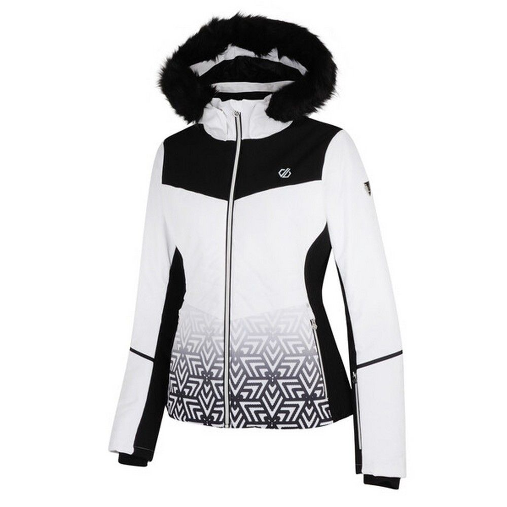 Dare 2b Womens Iceglaze Faux Fur Trim Luxe Ski Jacket