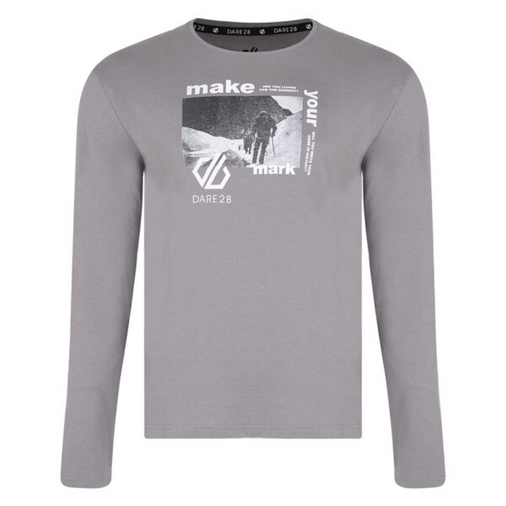 Dare 2b Mens Industry Long Sleeved Graphic Print T-Shirt