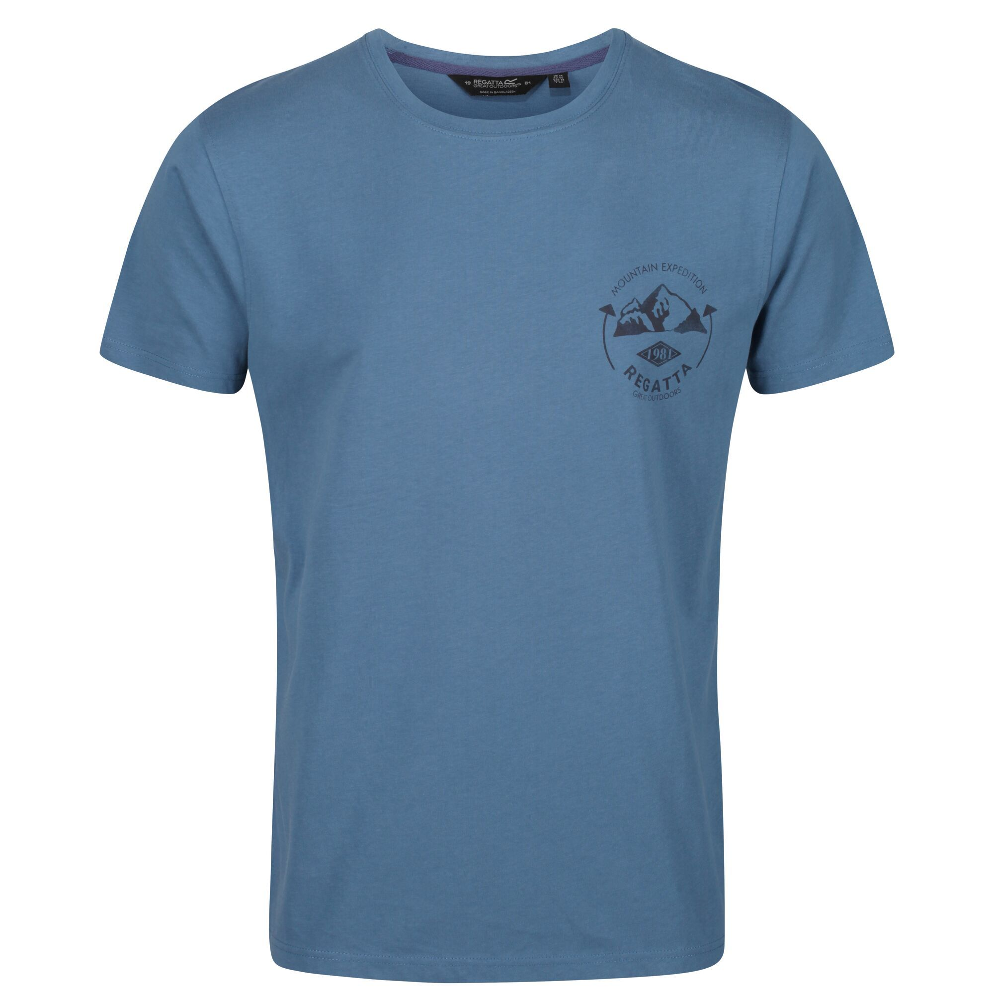 Regatta Mens Cline IV Graphic T-Shirt (Stellar Blue)