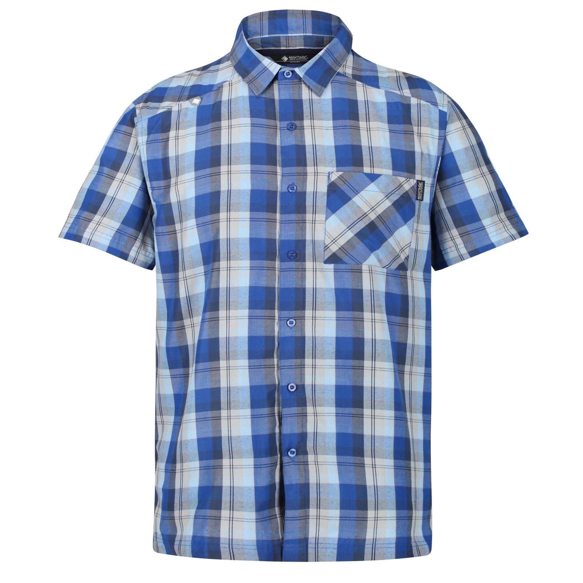 Regatta Mens Kalambo V Short Sleeved Checked Shirt
