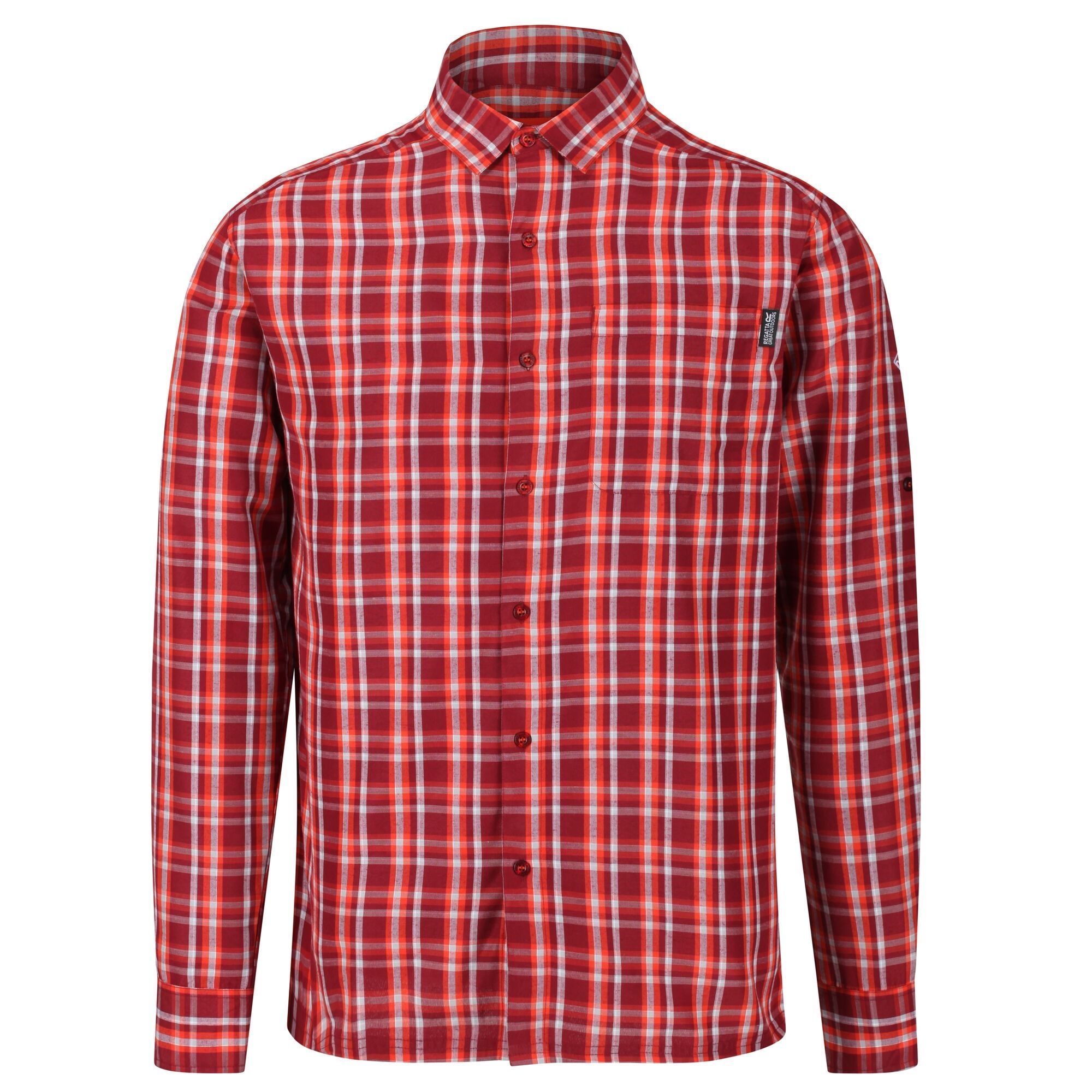 Regatta Mens Mindano III Long Sleeved Checked Shirt