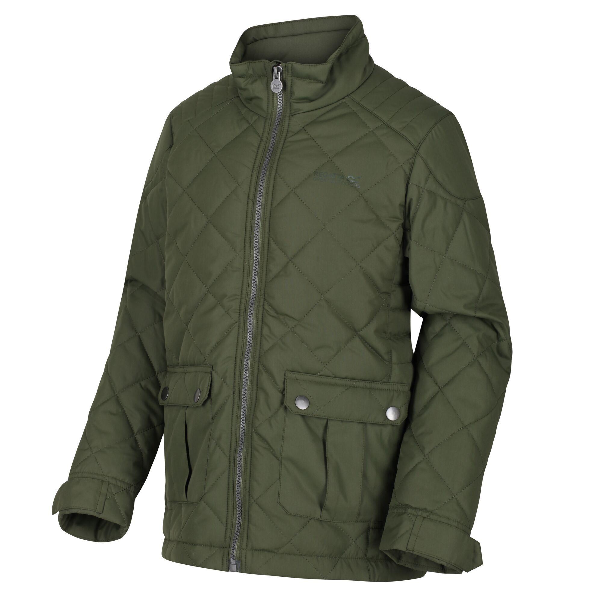 Regatta Childrens/Kids Zion Quilted Insulated Jacket (Racing Green)
