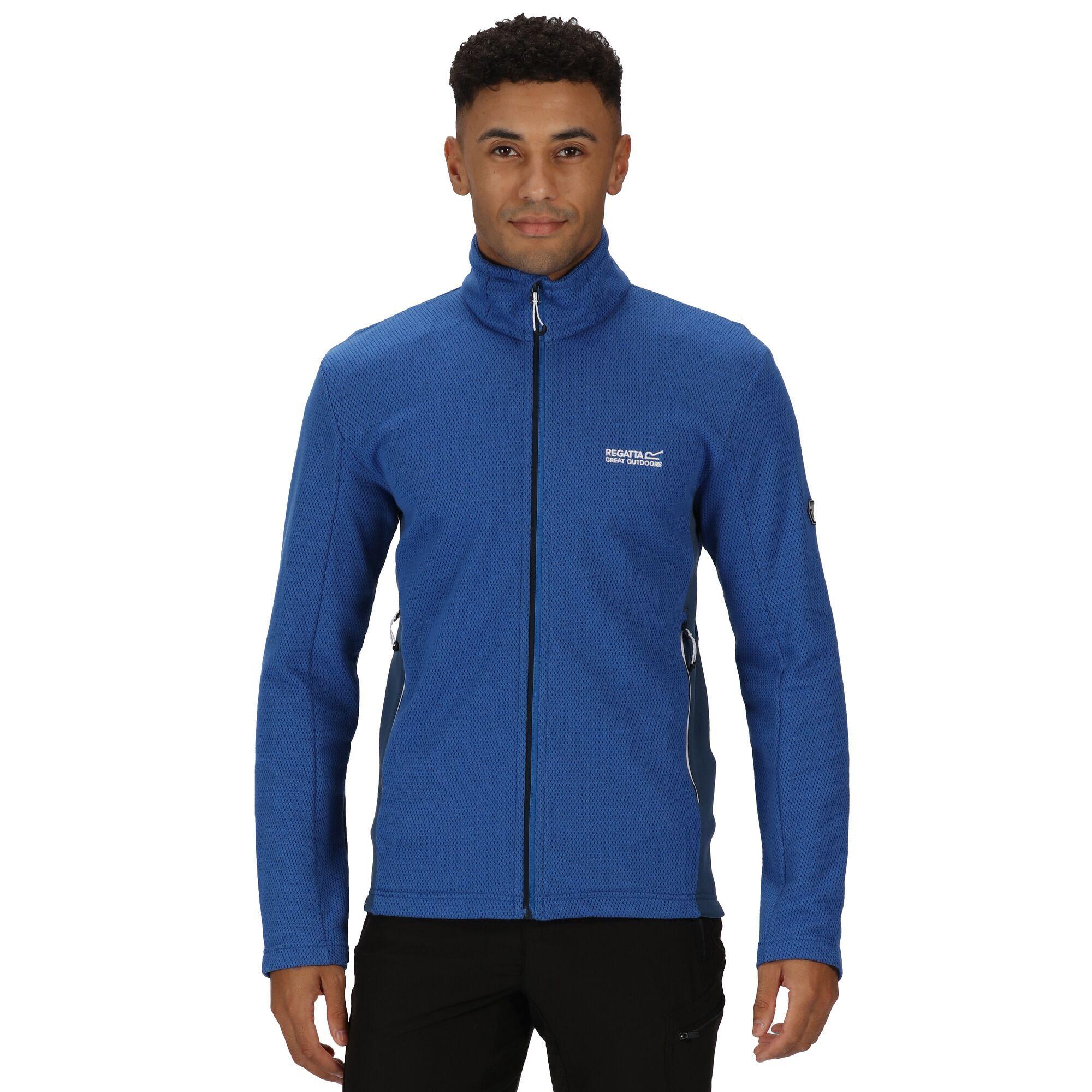 Regatta Mens Highton Full Zip Fleece (Nautical Blue/Dark Denim)