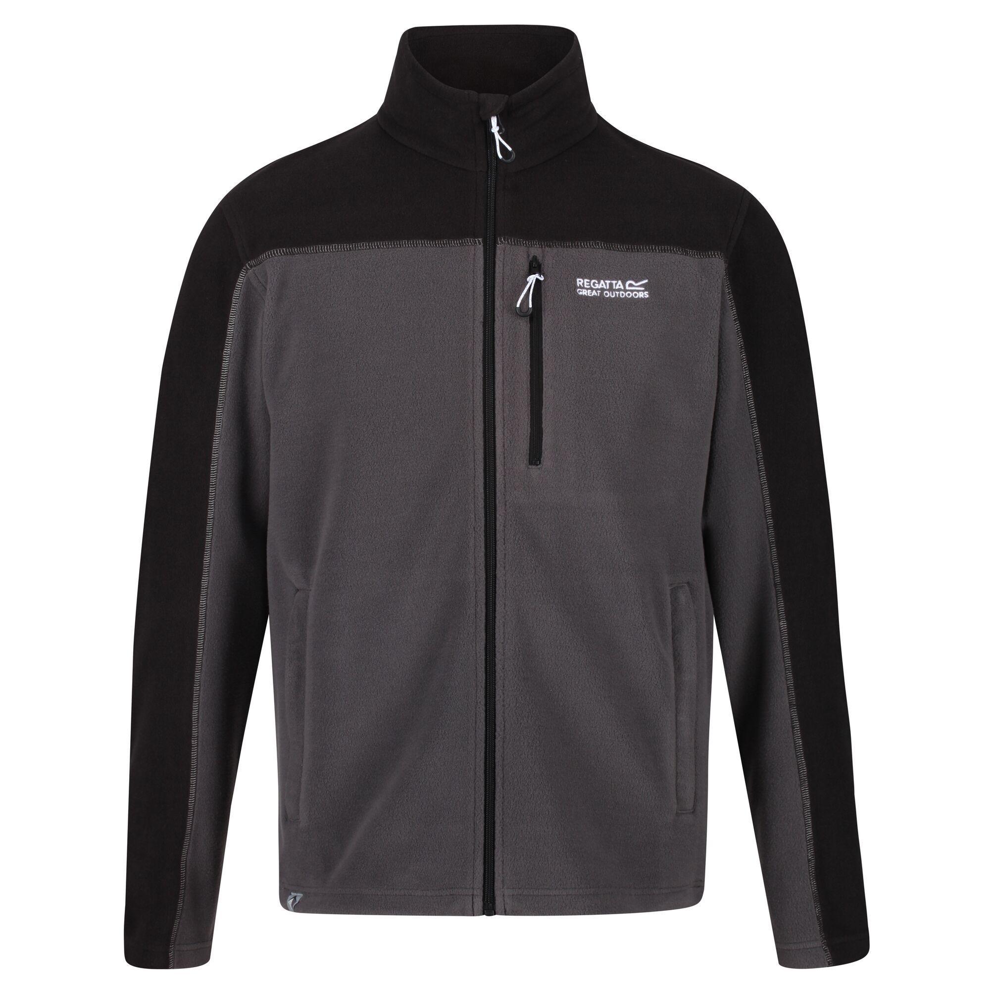 Regatta Mens Fellard Full Zip Fleece (Magnet Grey/Black)