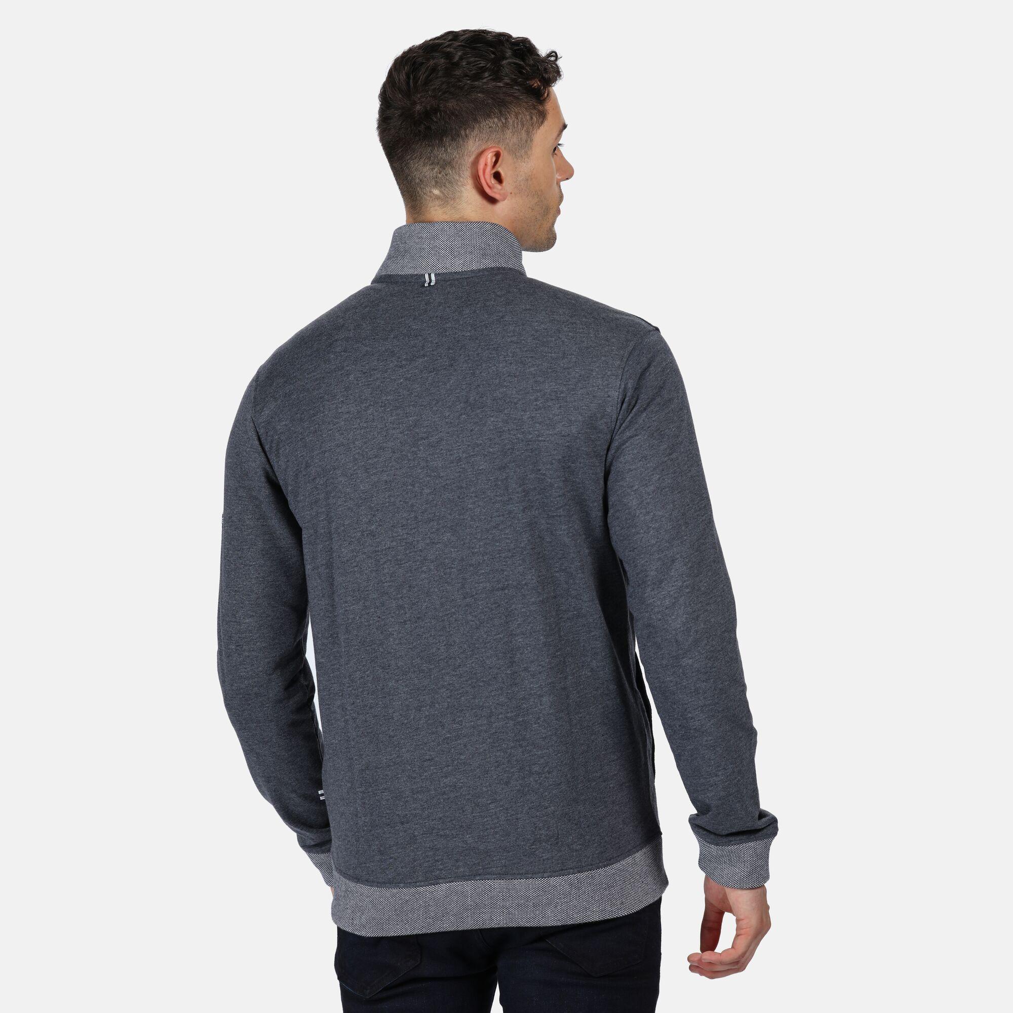 Regatta Mens Everard Full Zip Fleece (Navy Marl)