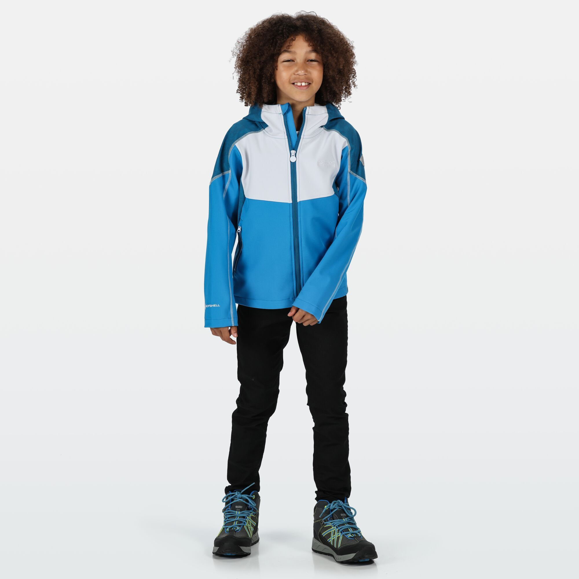Regatta Childrens/Kids Acidity IV Reflective Hooded Softshell Jacket
