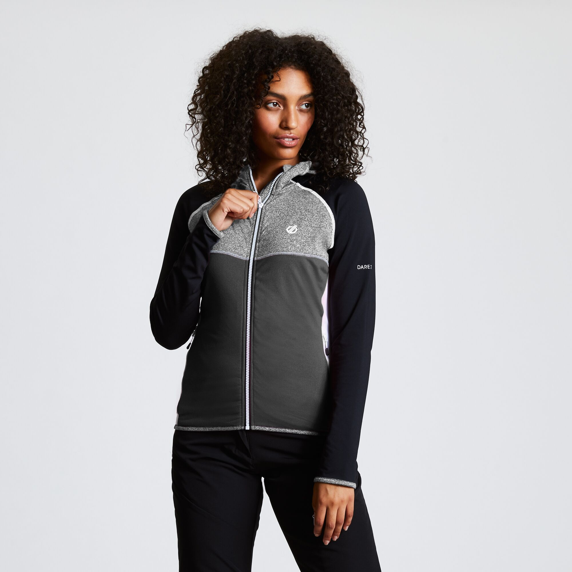 Dare 2B Womens/Ladies Courteous II Hooded Stretch Midlayer