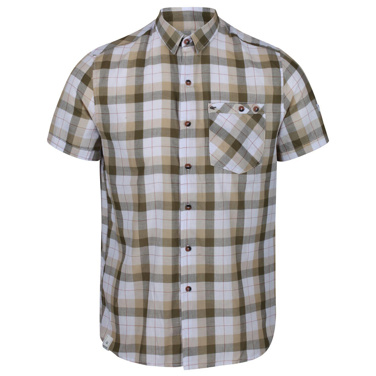 Regatta Mens Ramiro Short Sleeved Checked Shirt