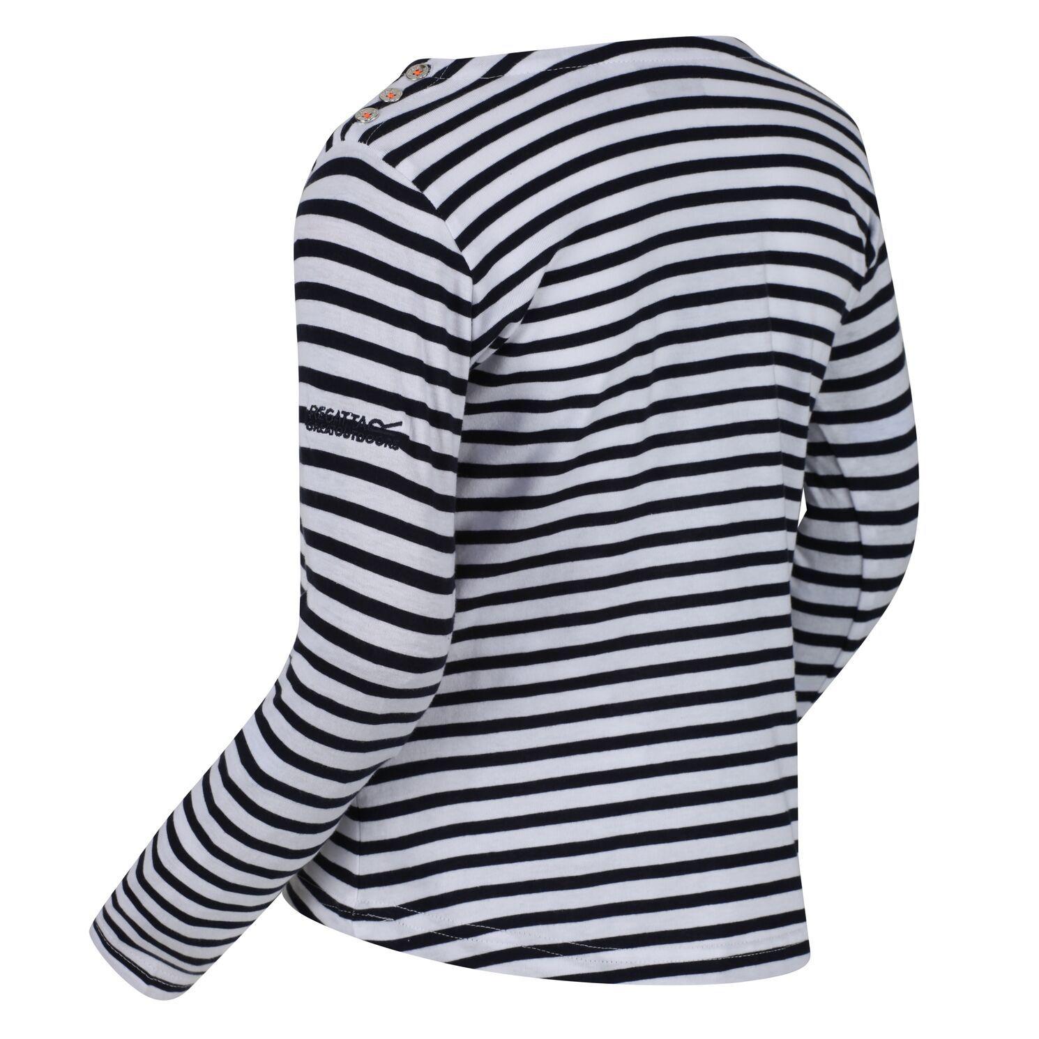 Regatta Childrens/Kids Carmella Long Sleeved Striped T-Shirt