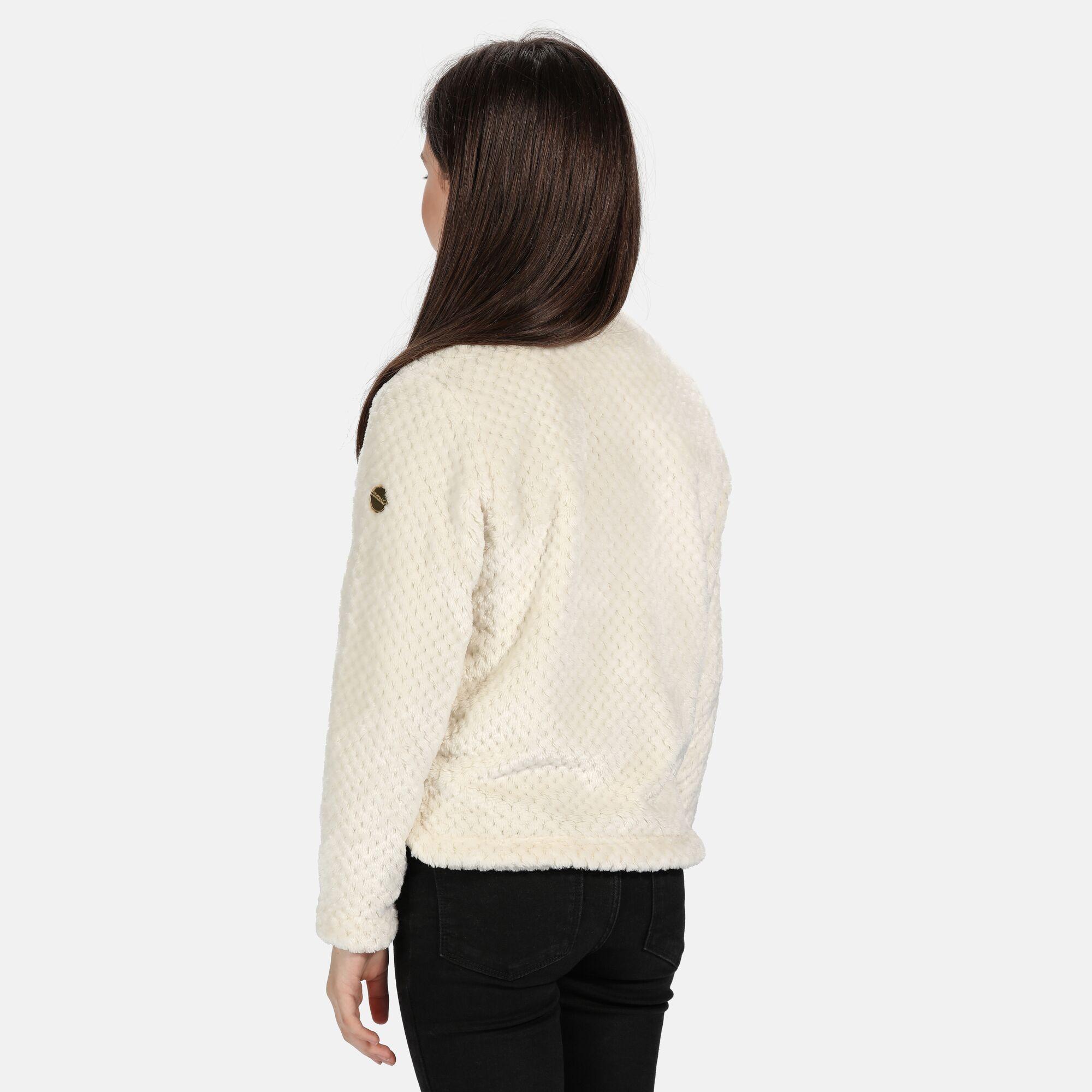 Regatta Childrens/Kids Kessie Half Zip Fleece Top (Light Vanilla)