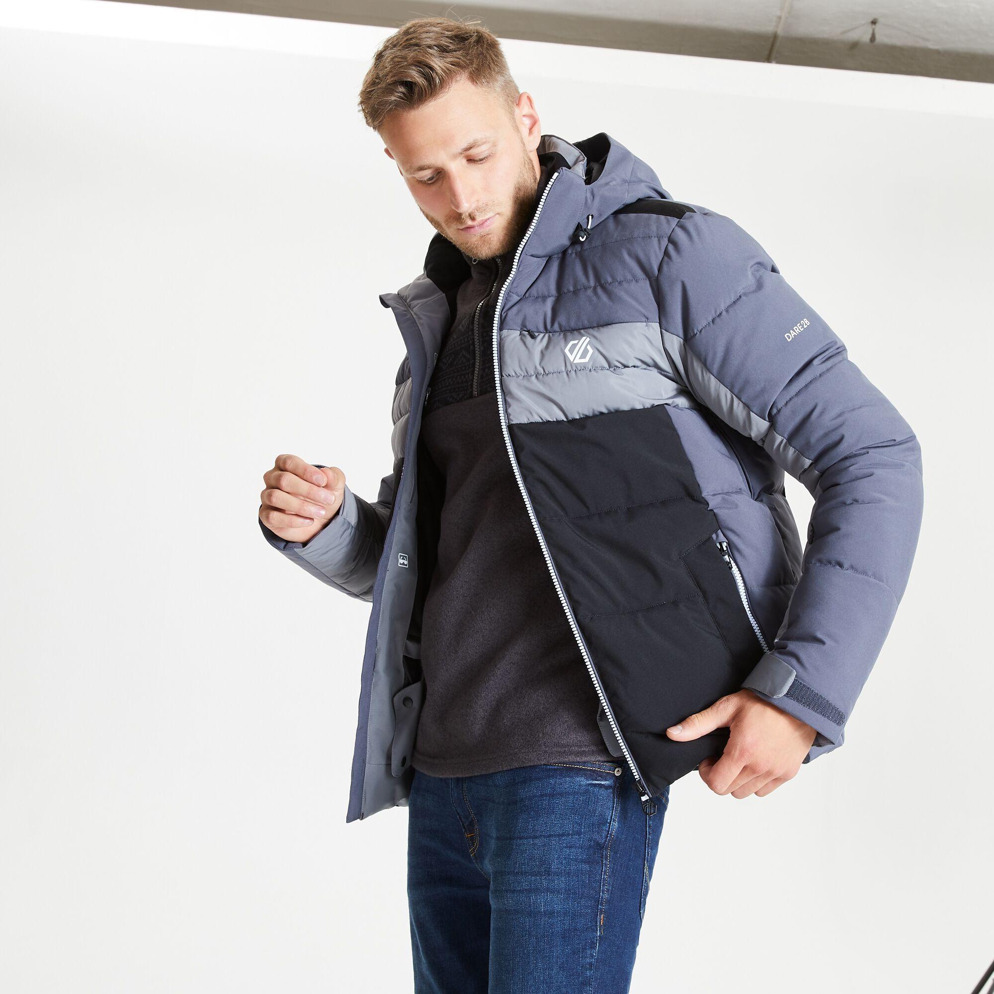 Dare 2B Mens Denote Waterproof Ski Jacket (Ebony/Grey)