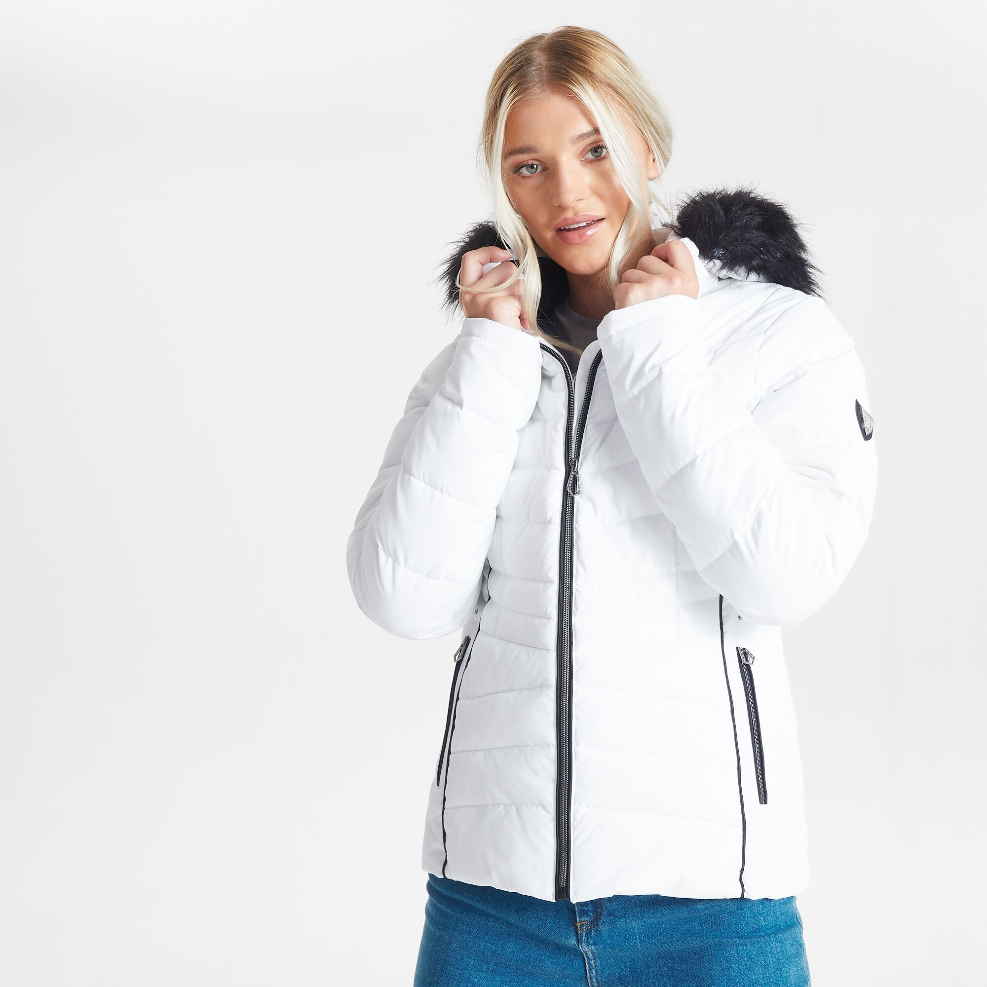 Dare 2B Womens/Ladies Glamorize II Quilted Insulated Ski Jacket (White)