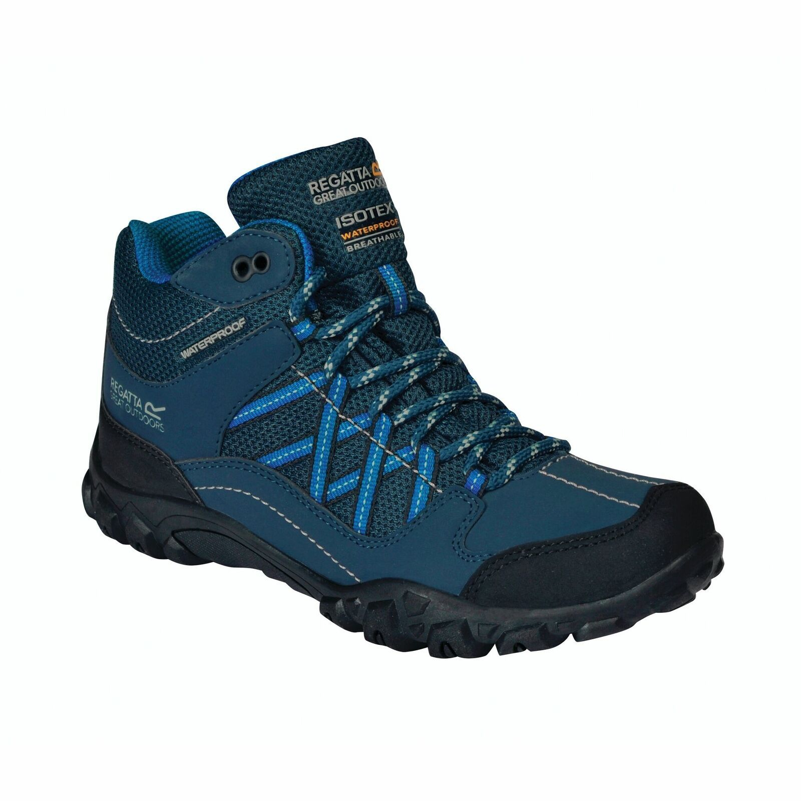 Regatta Childrens/Kids Edgepoint Boots (Deep Space Blue/Imperial Blue)
