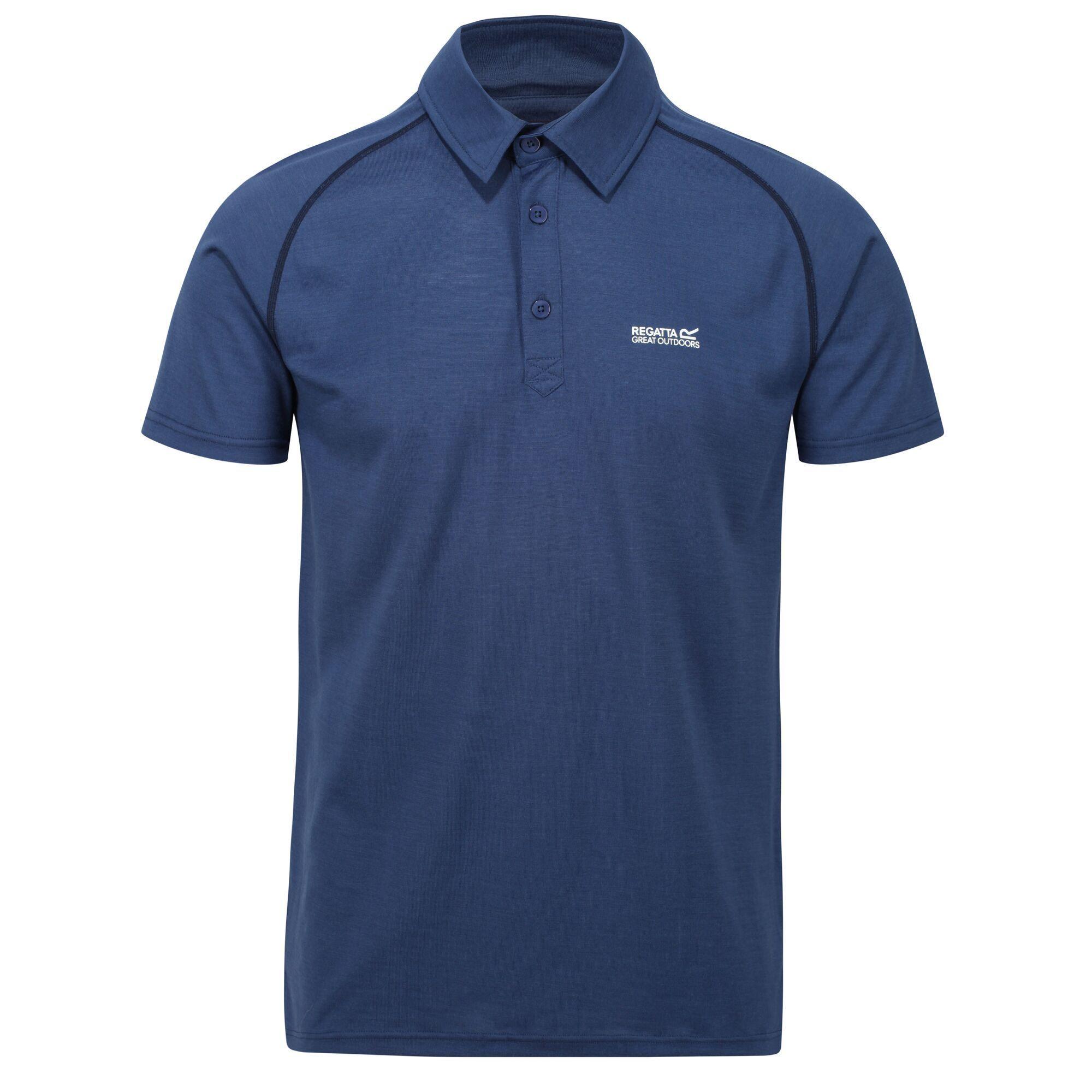 Regatta Mens Kalter Short-Sleeved Polo Shirt (Dark Denim)