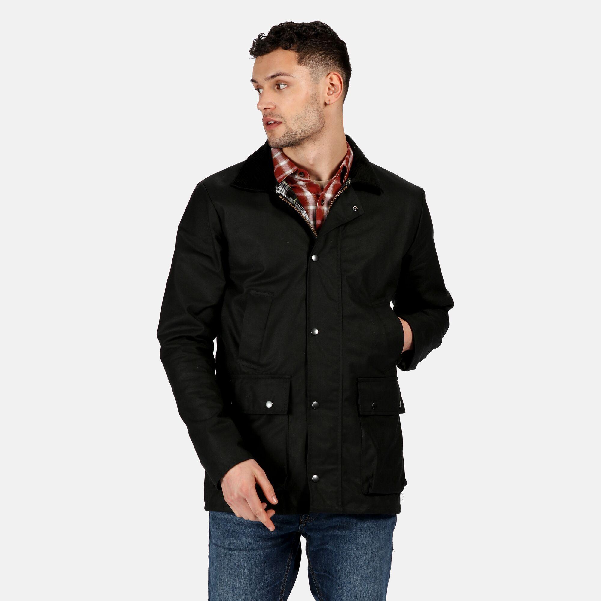 Regatta Mens Country Wax Jacket (Black)
