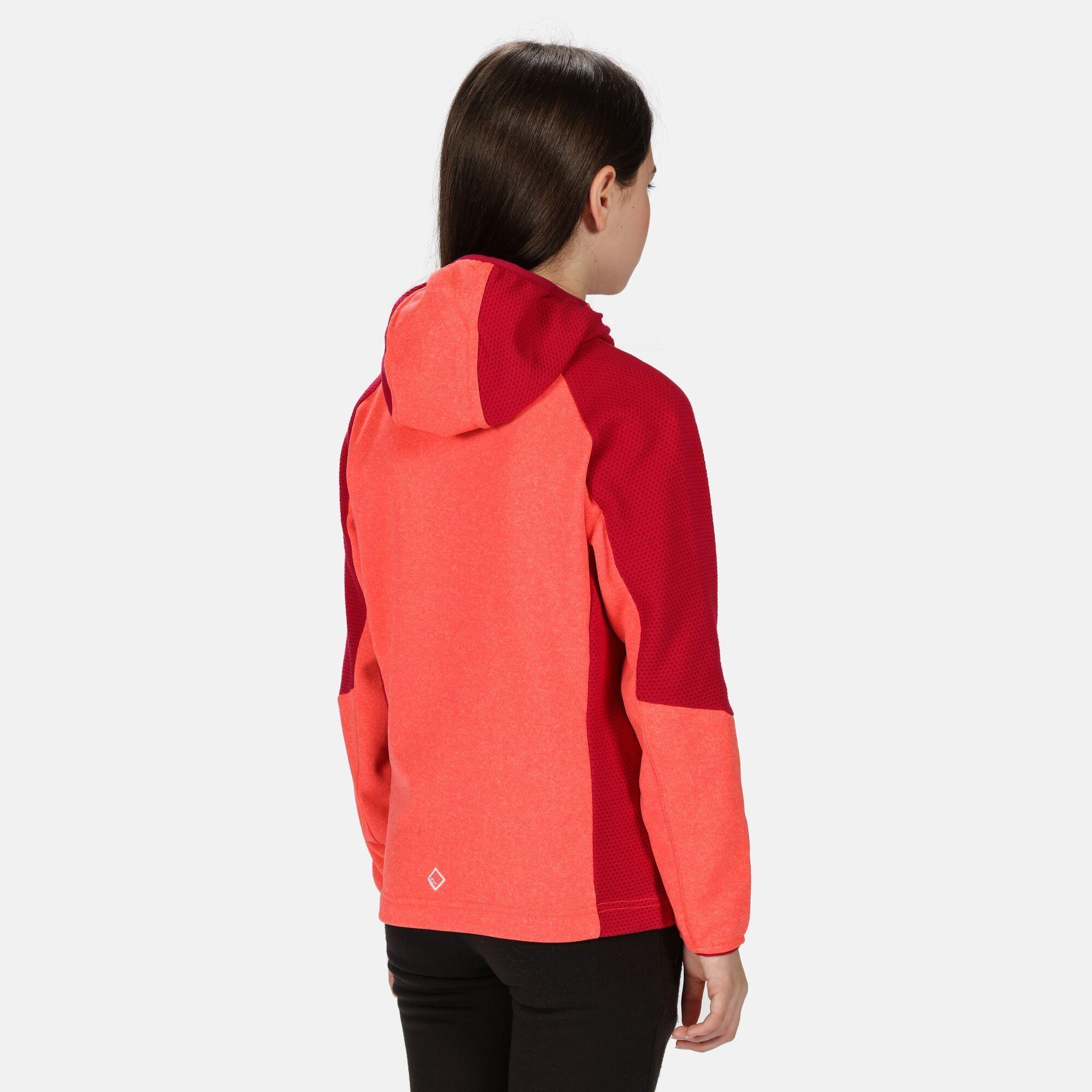 Regatta Childrens/Kids Lostock Fleece Jacket (Fiery Coral/Dark Cerise)