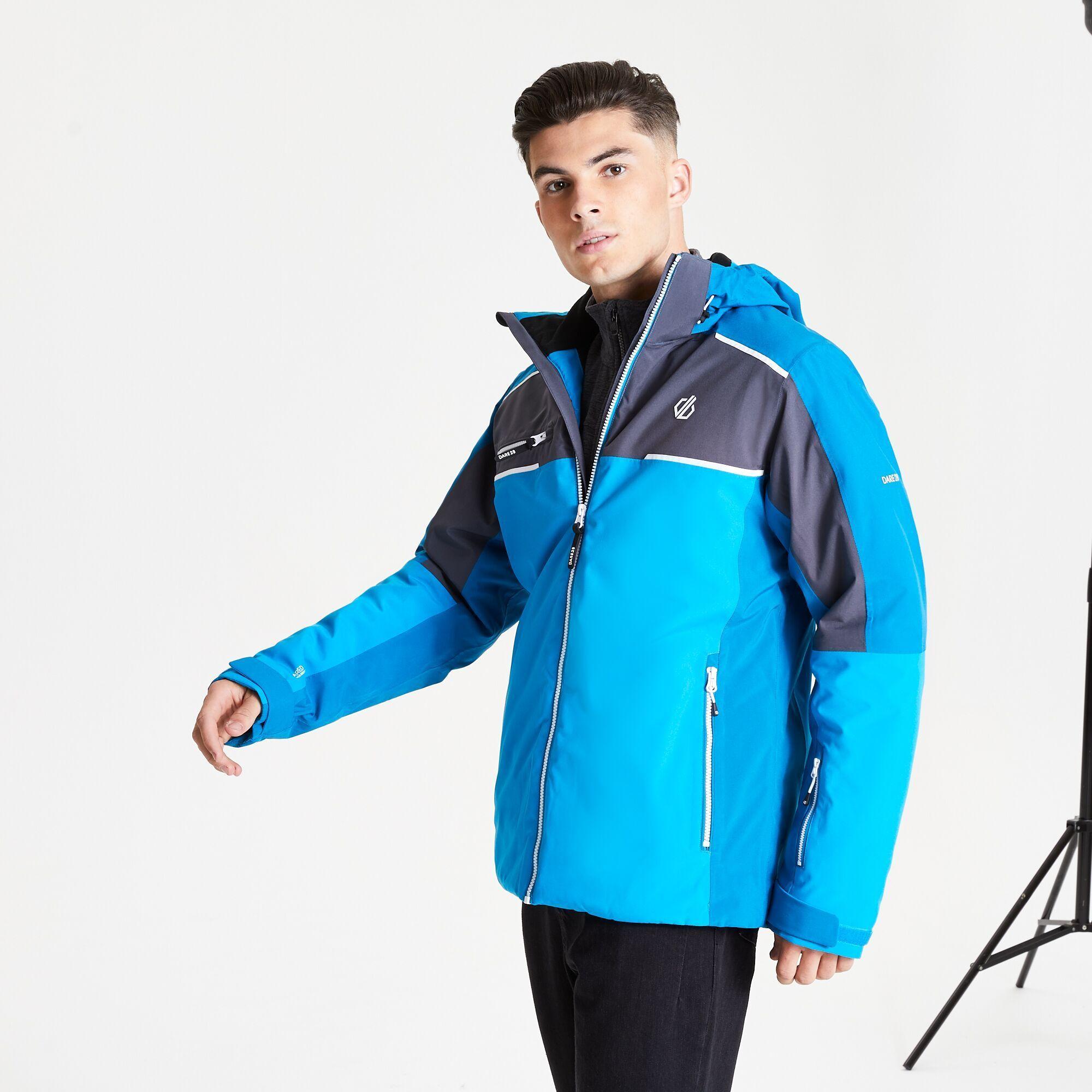 Dare 2B Mens Intermit II Waterproof Ski Jacket (Methyl Blue/Petrol Blue)