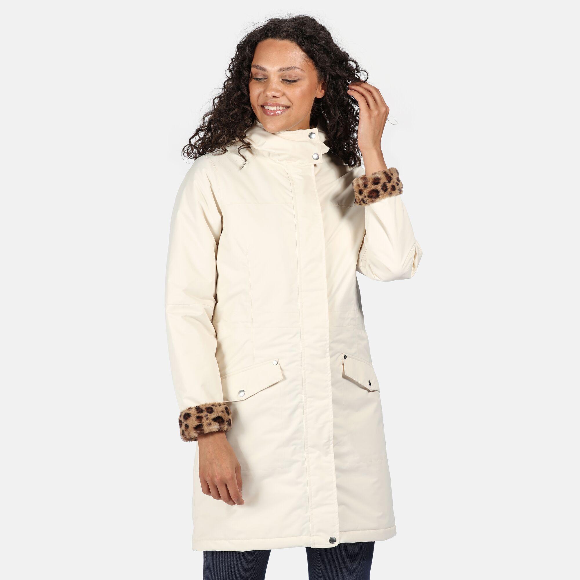 Regatta Womens/Ladies Rimona Hooded Waterproof Jacket (Light Vanilla)