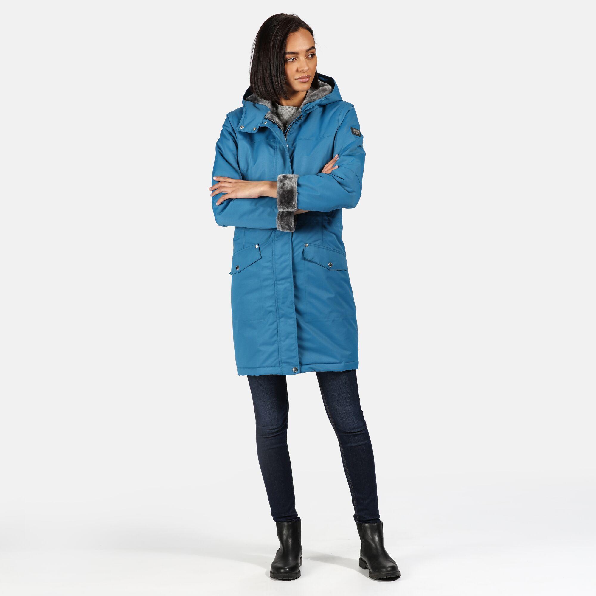 Regatta Womens/Ladies Rimona Hooded Waterproof Jacket (Sapphire Blue)