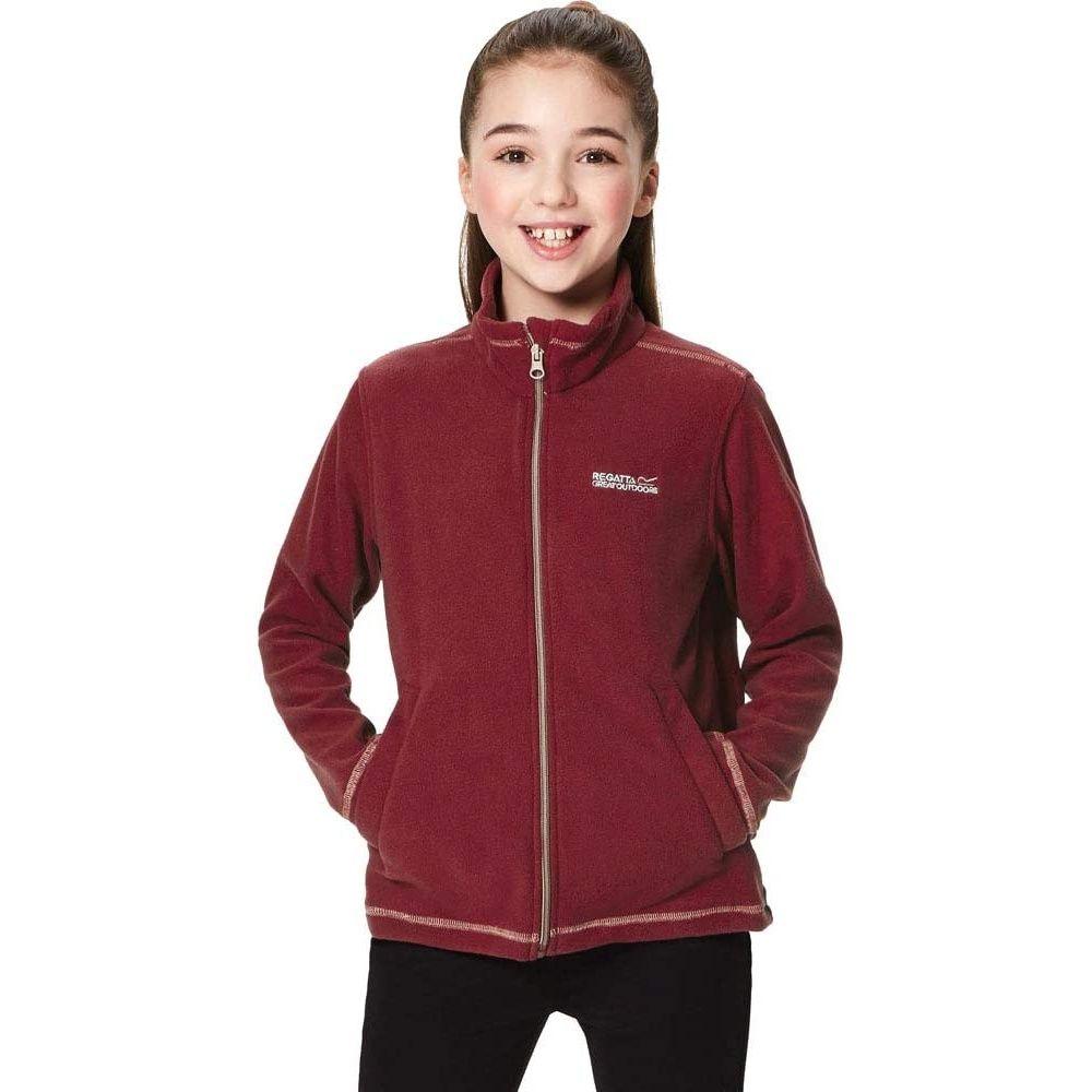 Regatta Great Outdoors Childrens/Kids King II Lightweight Full Zip Fleece Jacket (Rumba Red)