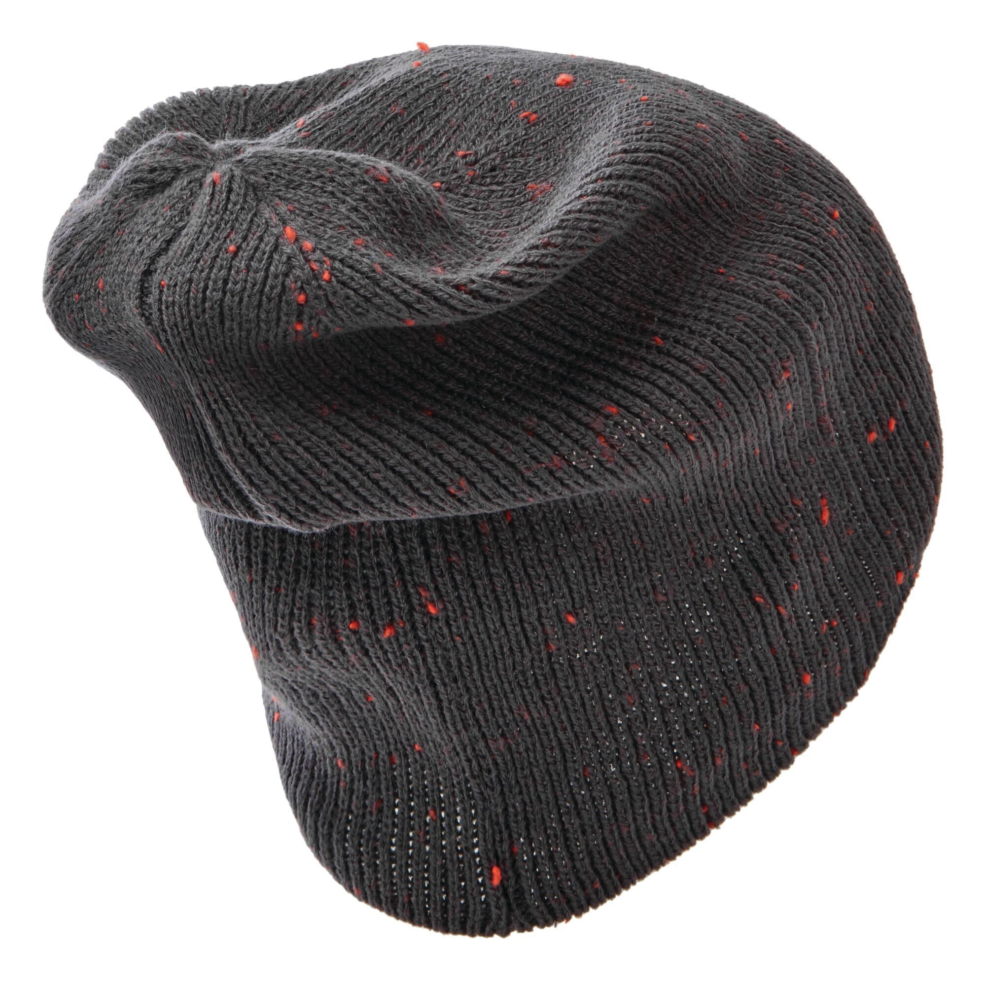 Dare 2B Mens Thesis II Beanie (Ebony Grey/Trail Blaze Red)
